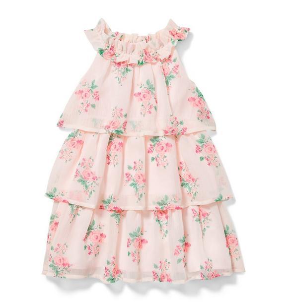 Floral Tiered Chiffon Dress