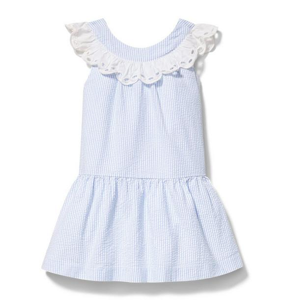 Drop Waist Seersucker Dress