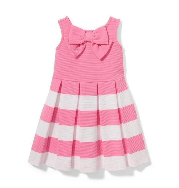 Pink Striped Bow Dress