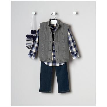 Baby Boy's Best Vest Outfit by JanieandJack