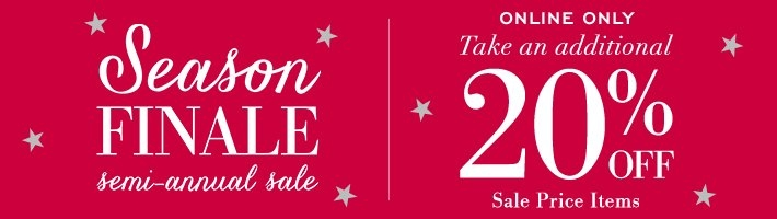 Season Finale, Additional 20% Off Sales