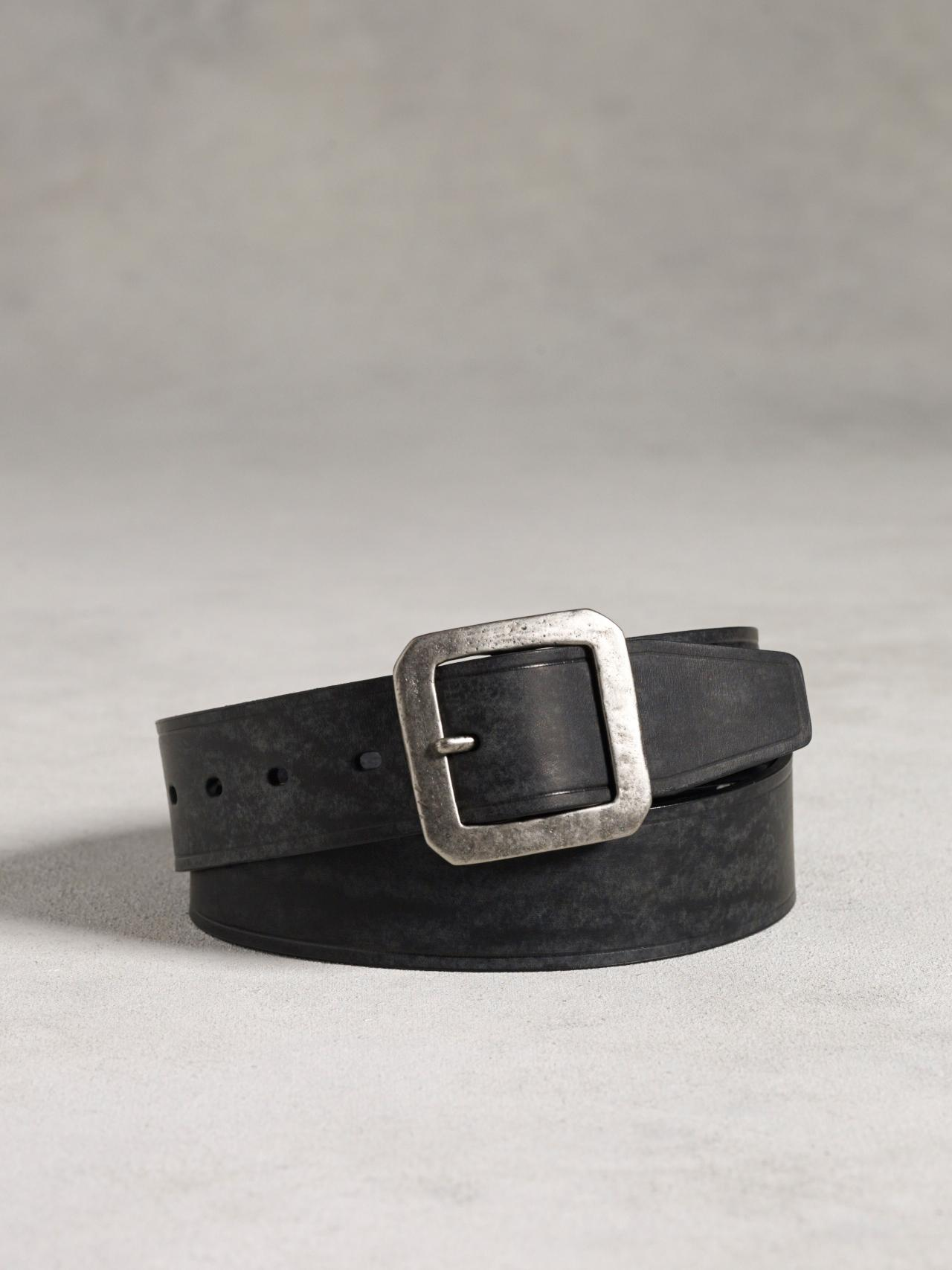 Leather Heat Creased Belt