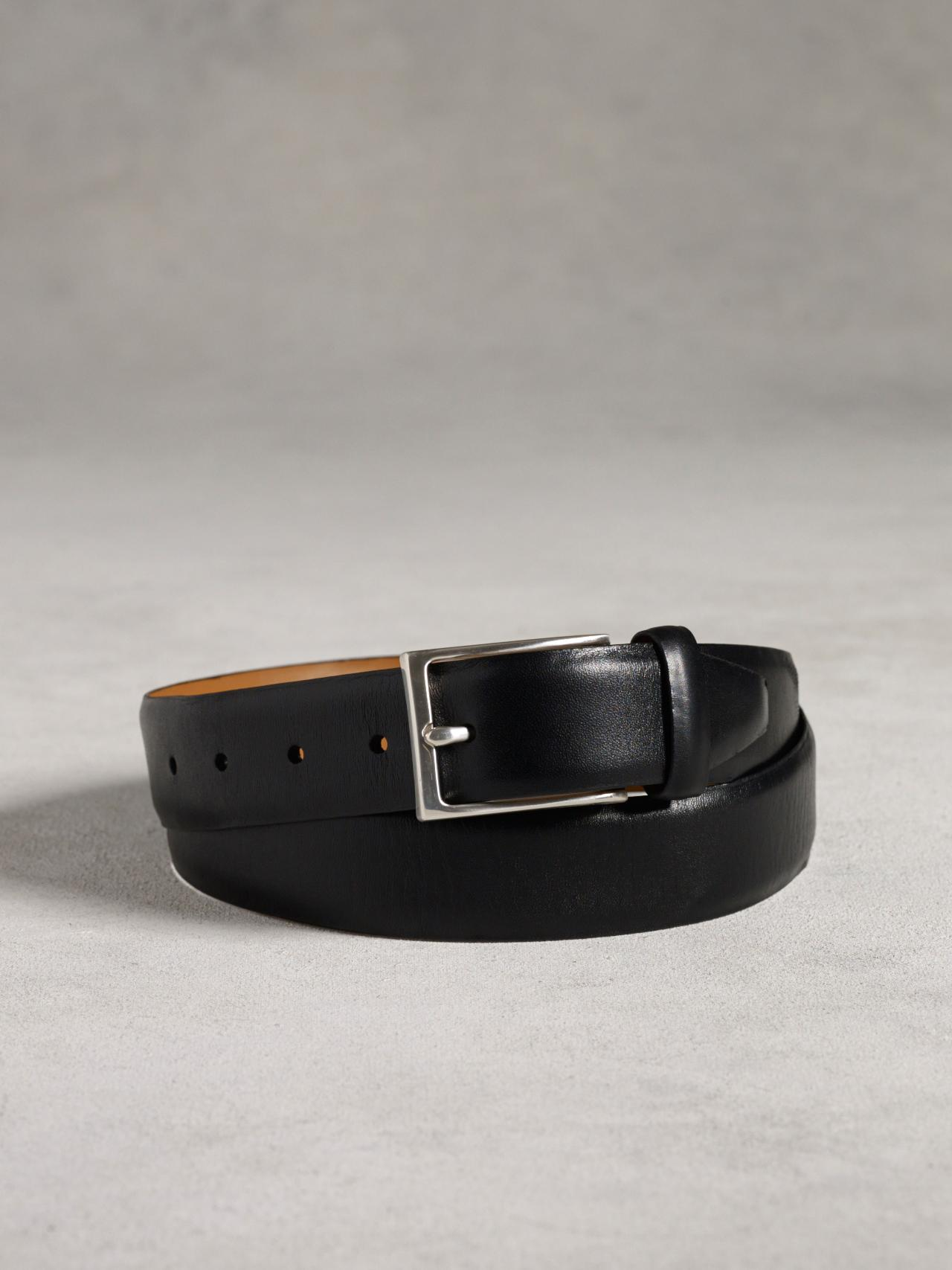 Feathered Edge Leather Belt