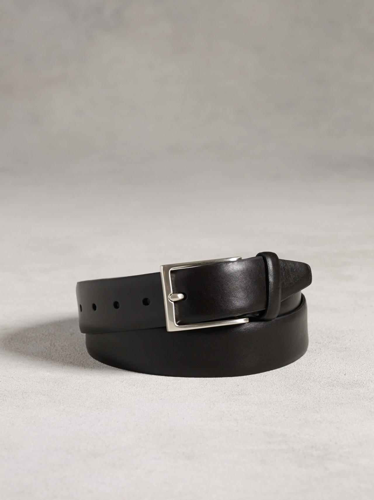 Leather Feathered Edge Belt