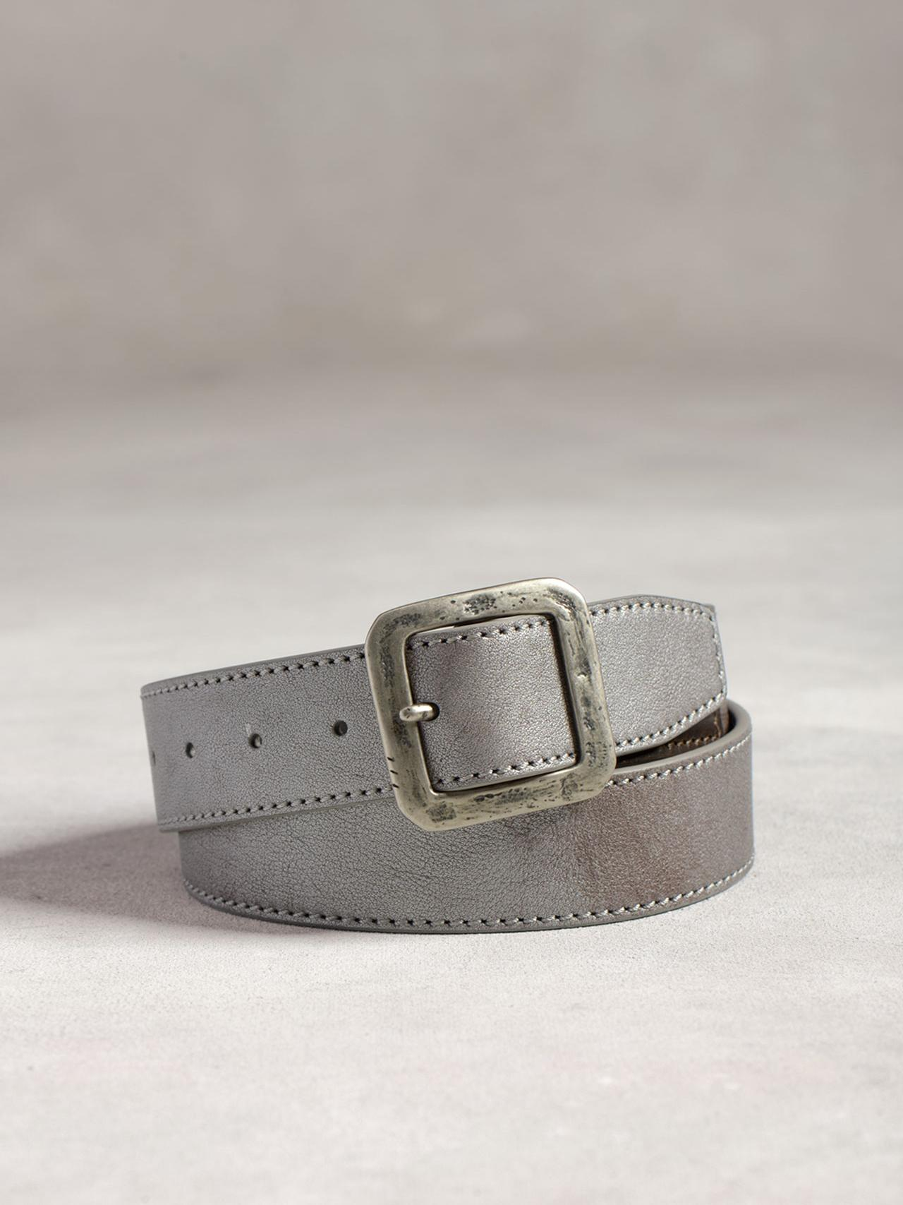 Panel Belt With Classic Center Buckle