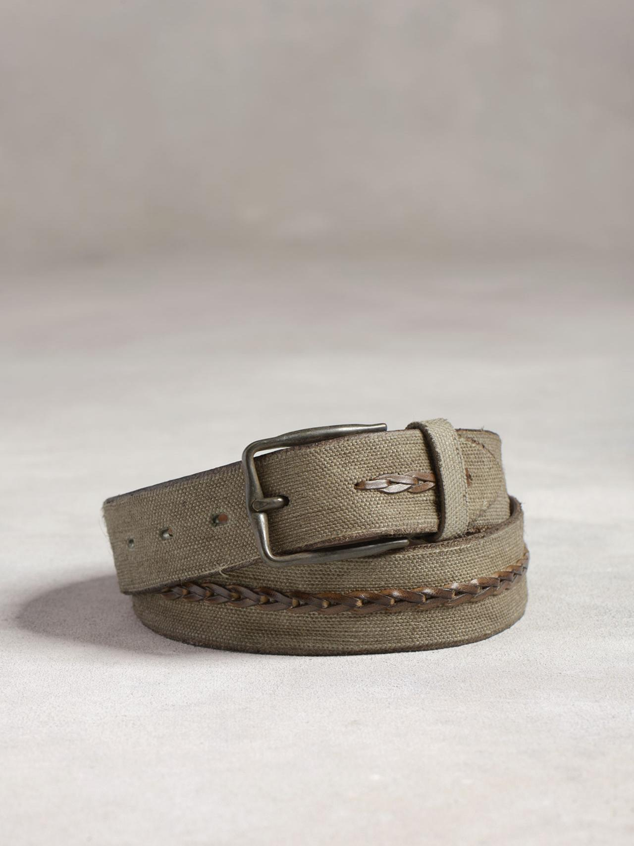 Leather & Canvas Belt