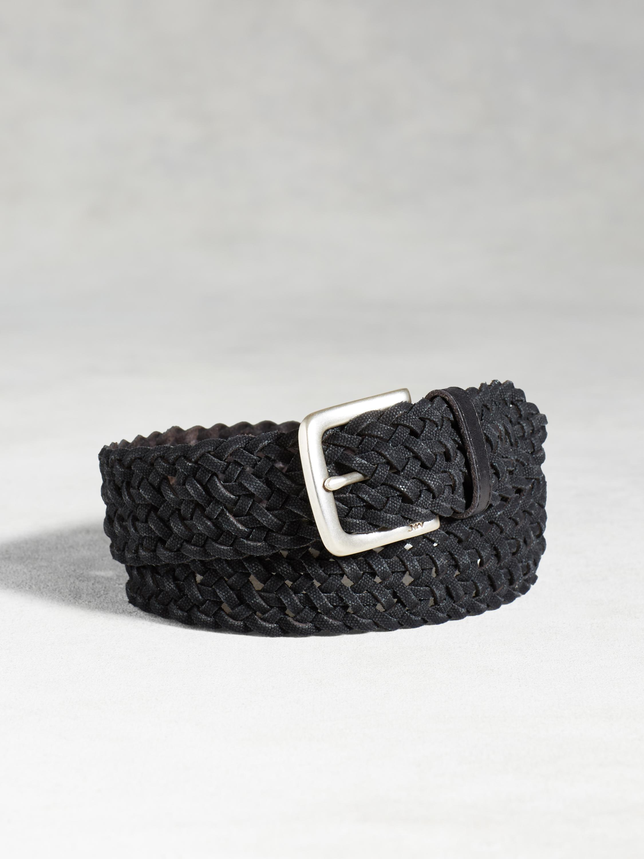 Waxed Canvas Braid Belt