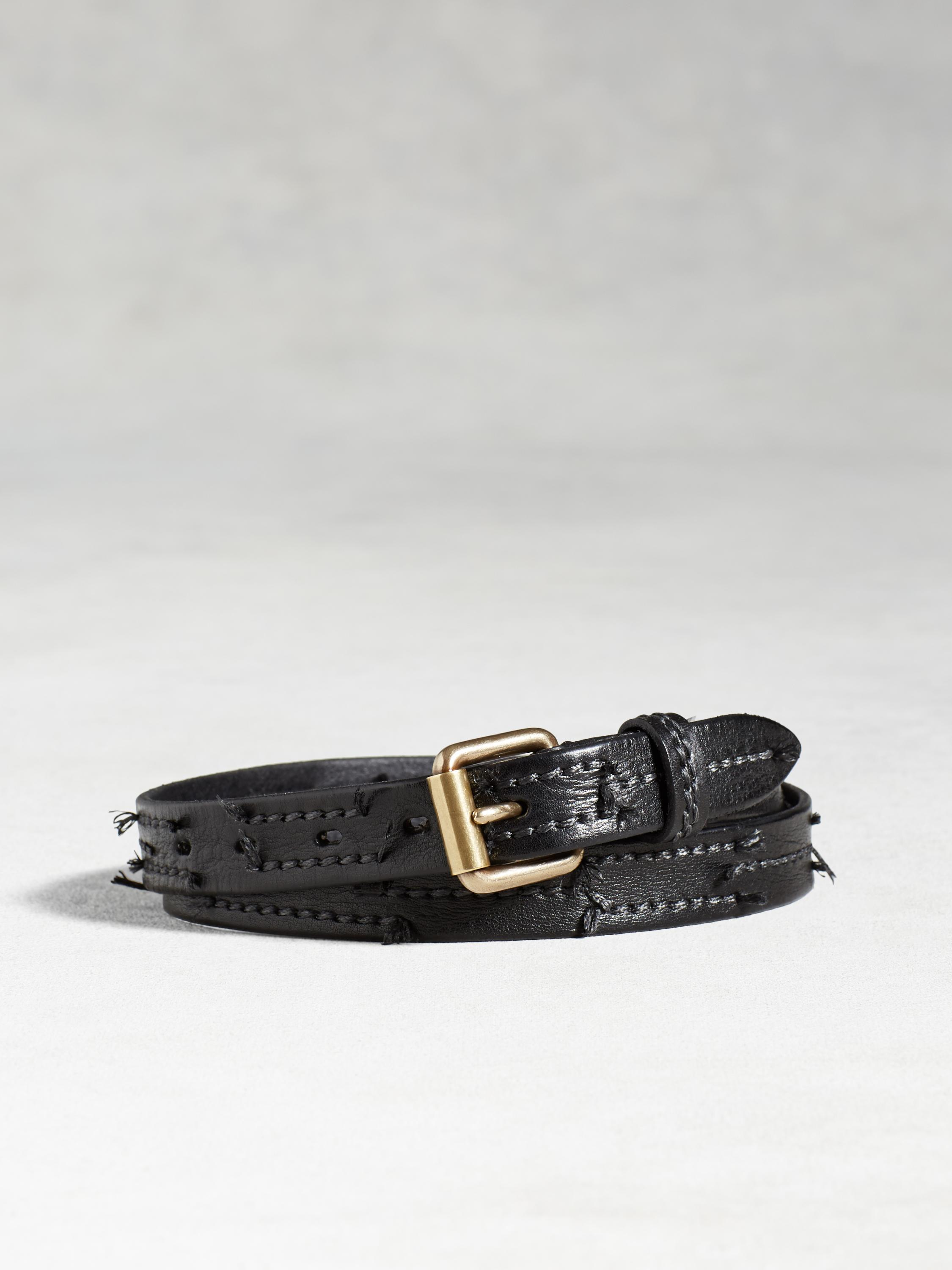 Artisan Stitched Strip Belt
