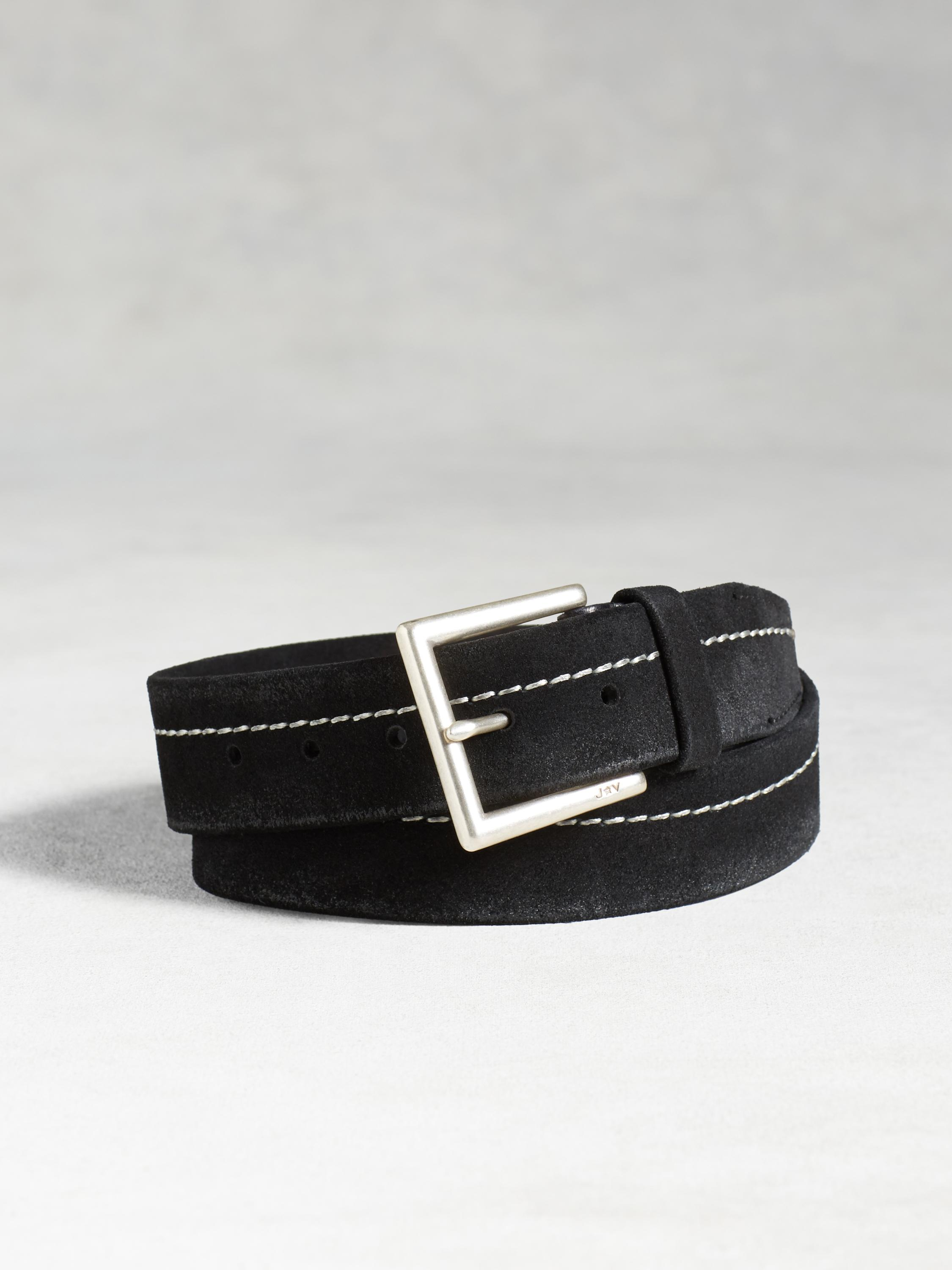 Waxed Suede Belt