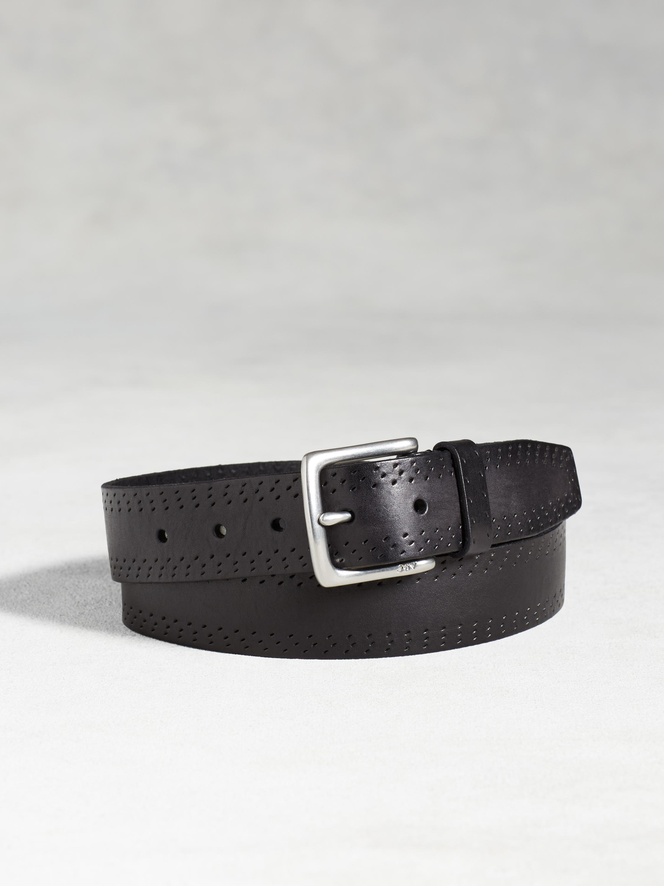 Leather Double Perforated Belt