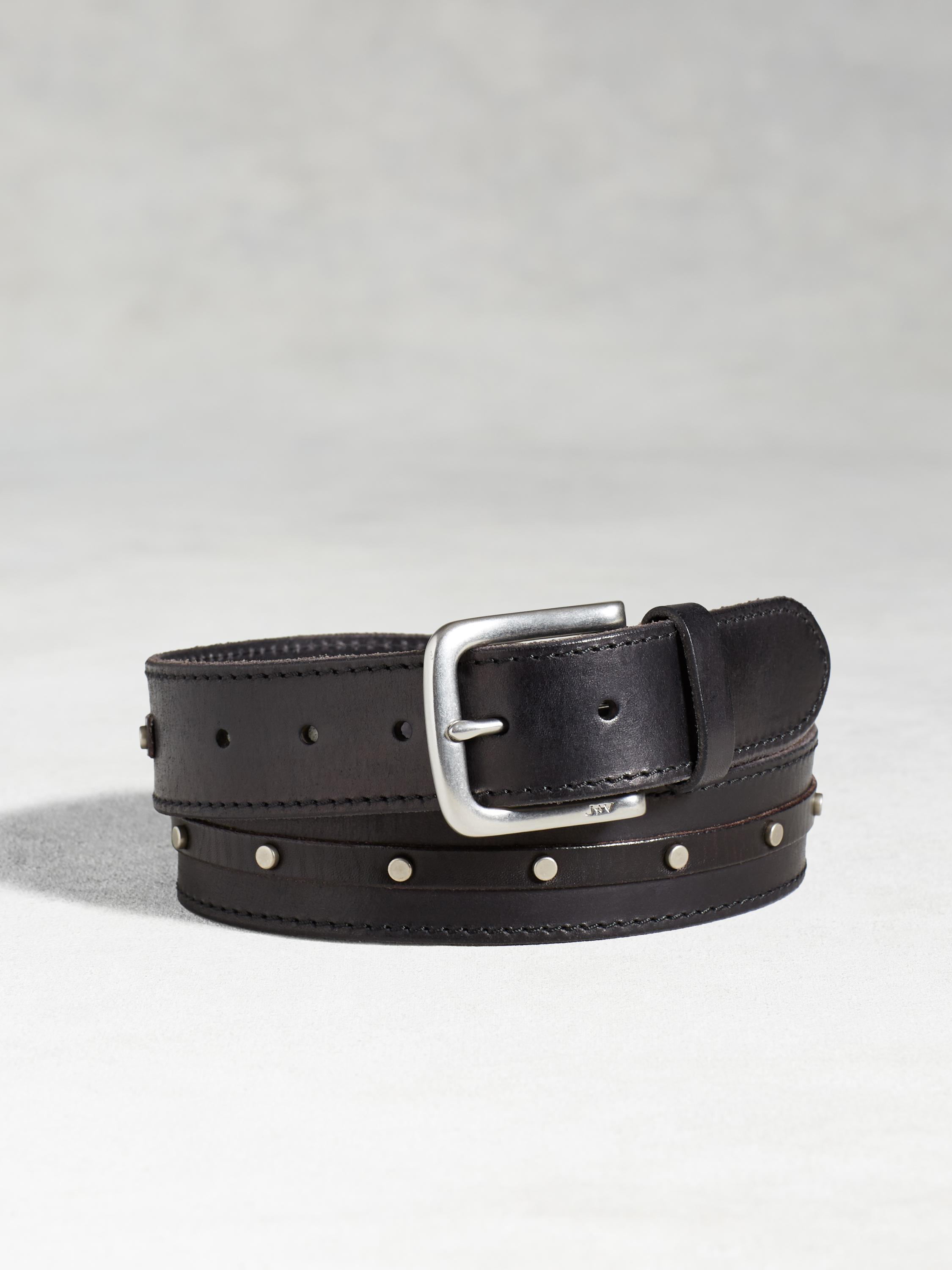 Leather Studded Belt
