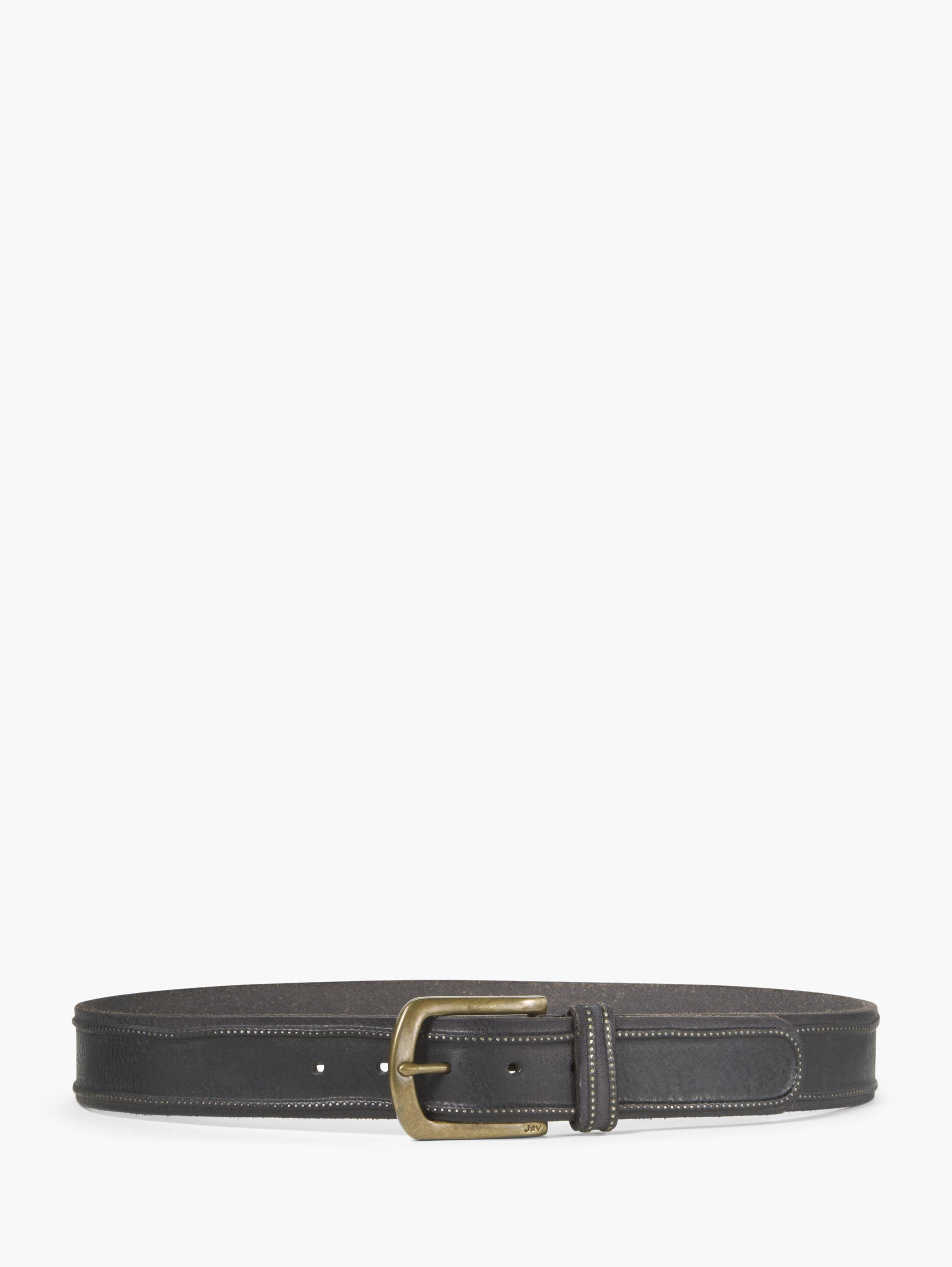 Leather Studded Edge Belt