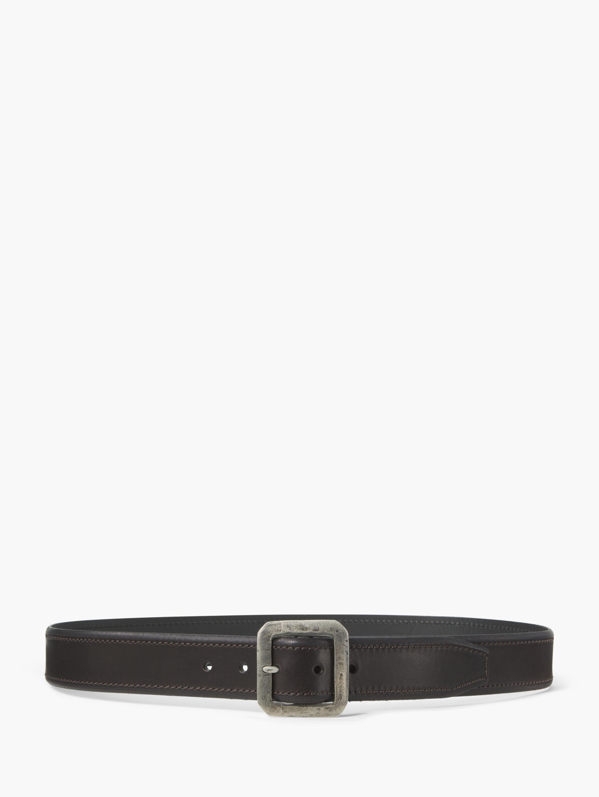 Leather Edge Stitched Belt