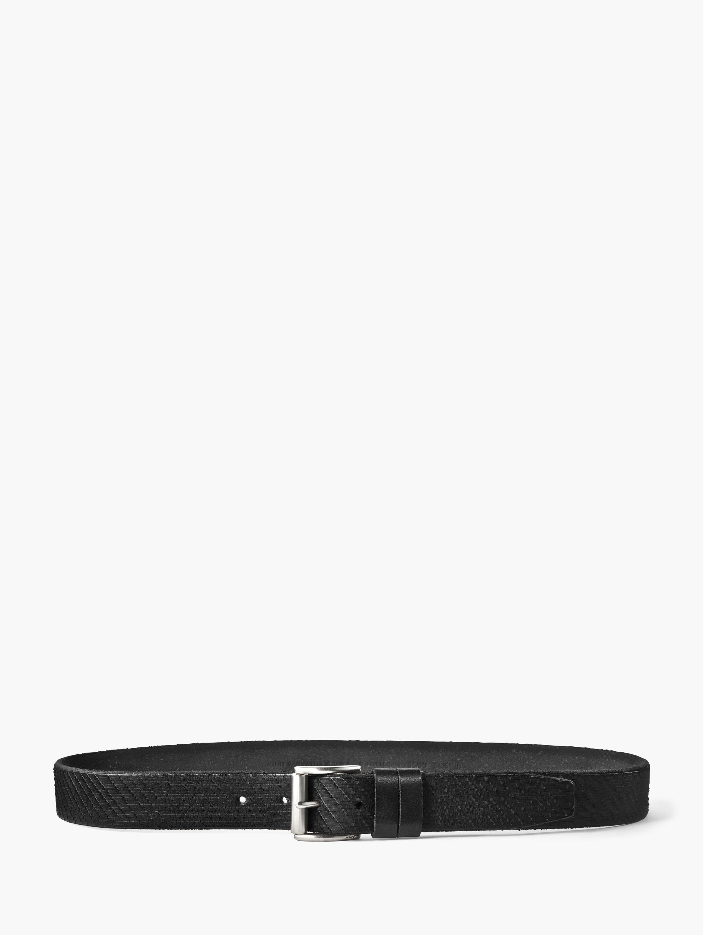 Double Loop Textured Leather Belt