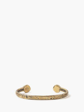 Brass Distressed Rivet Cuff