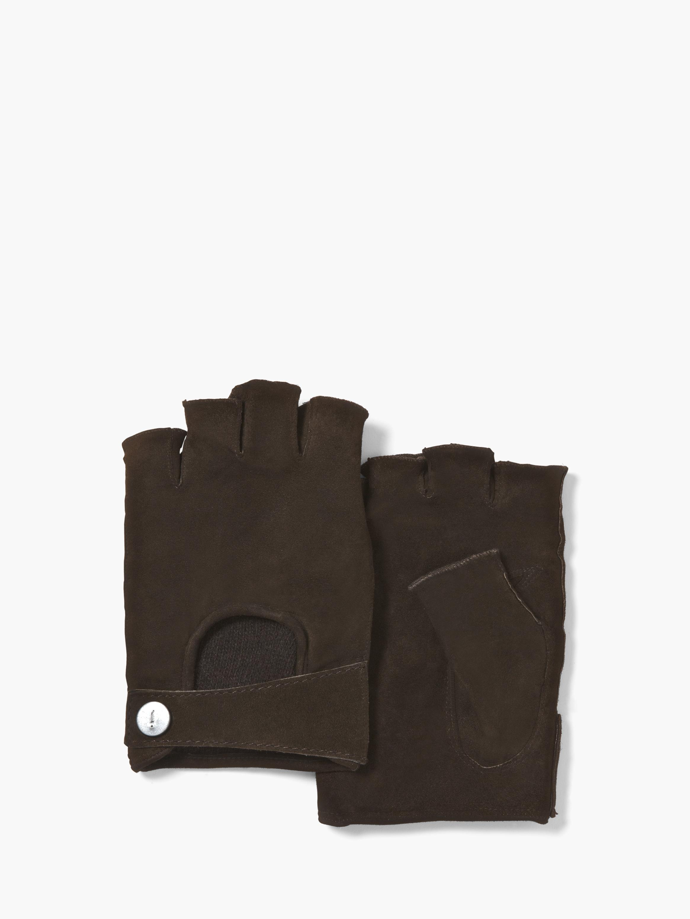 Fingerless Suede Driving Glove