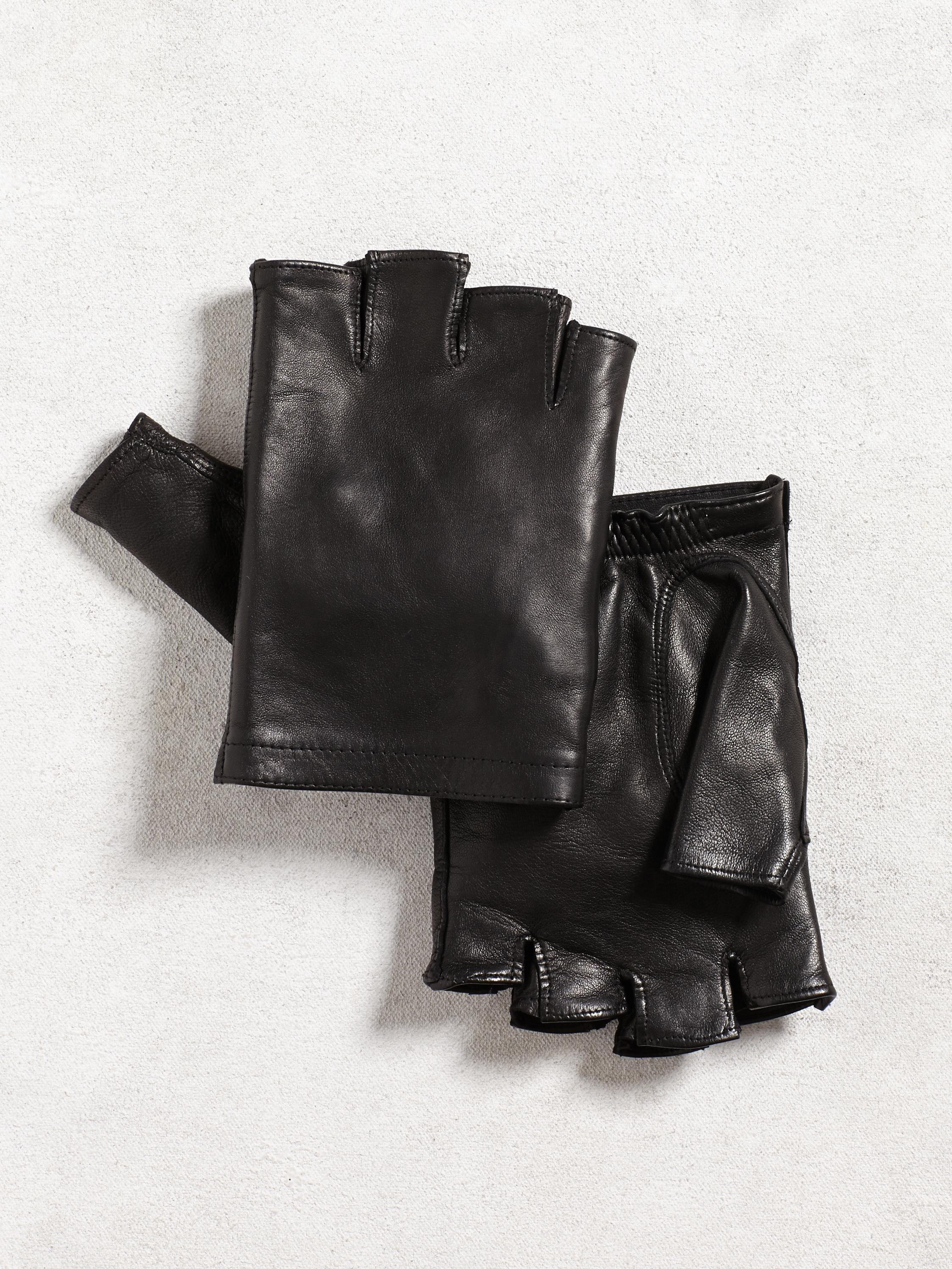 Fingerless Sheepskin Driving Glove