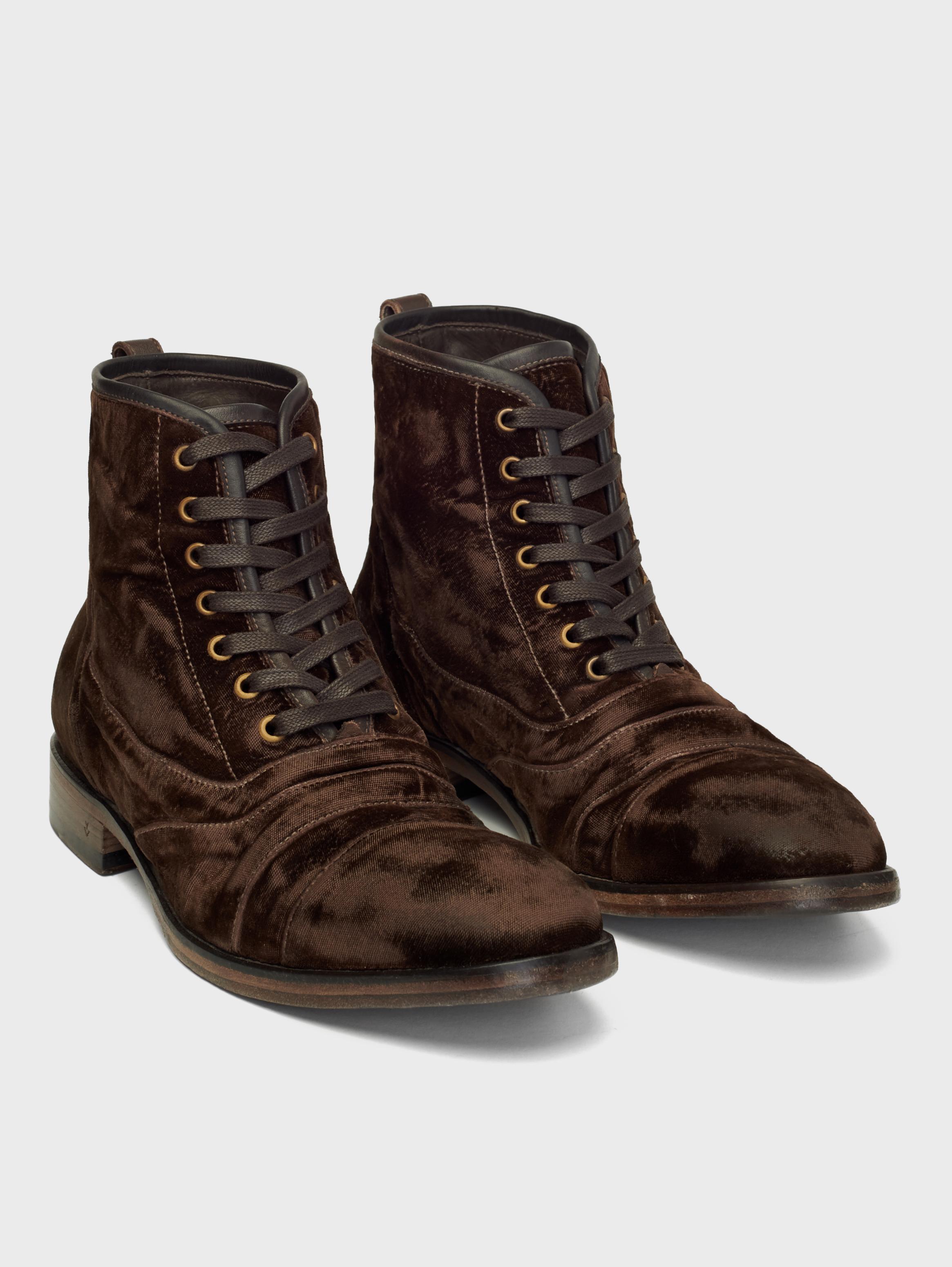John Varvatos Fleetwood Lace Boots Chocolate