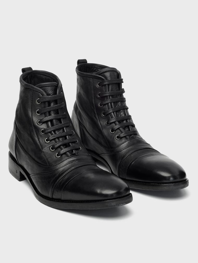 John Varvatos Fleetwood Lace Boots Black