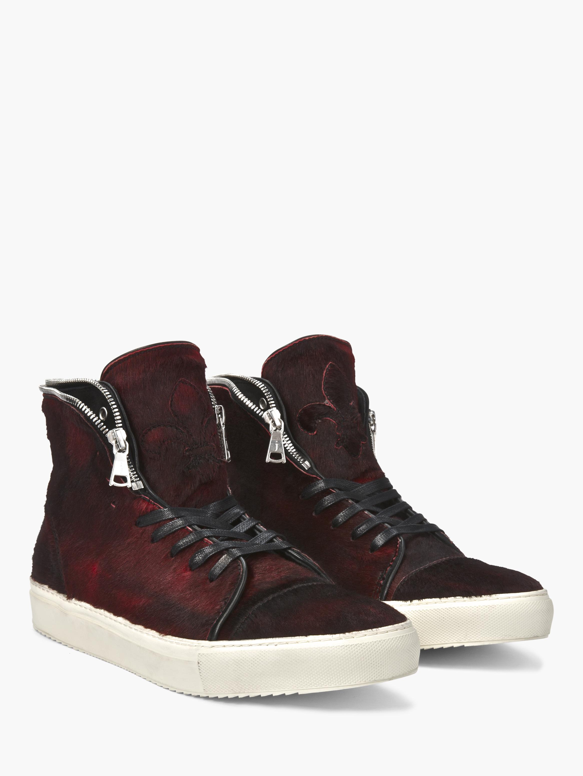 Reed Zip Collar High Top Sneaker