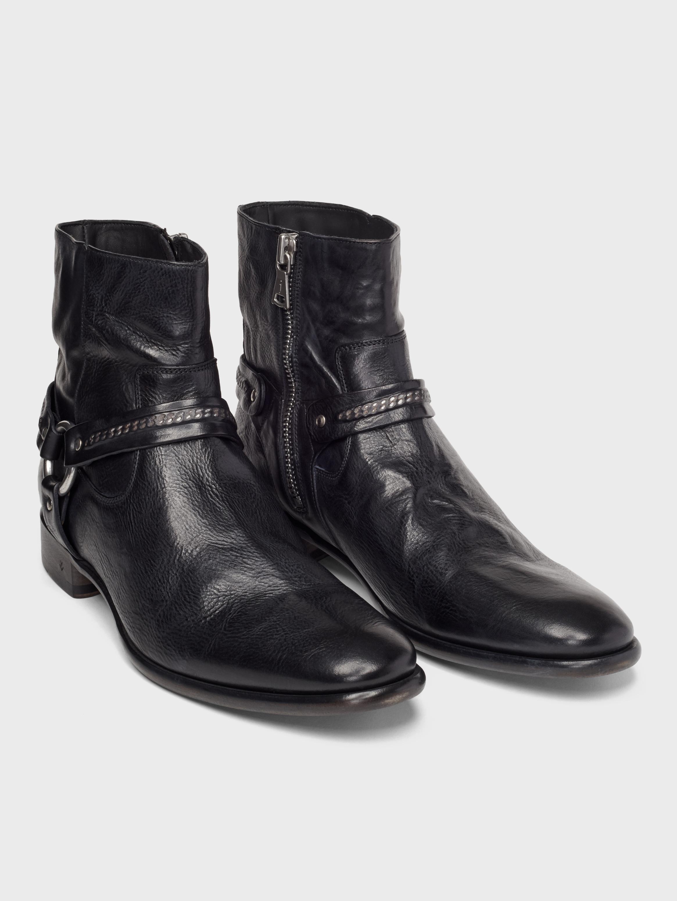 John Varvatos Eldridge Harness Boots Black