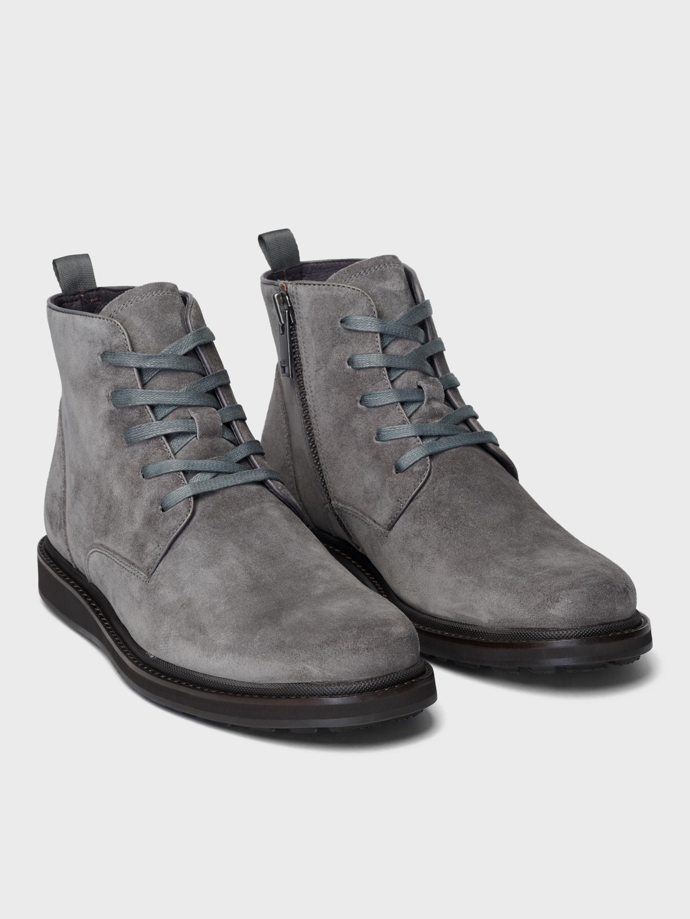 John Varvatos Brooklyn Lug Lace Boots Blk Gry Twd