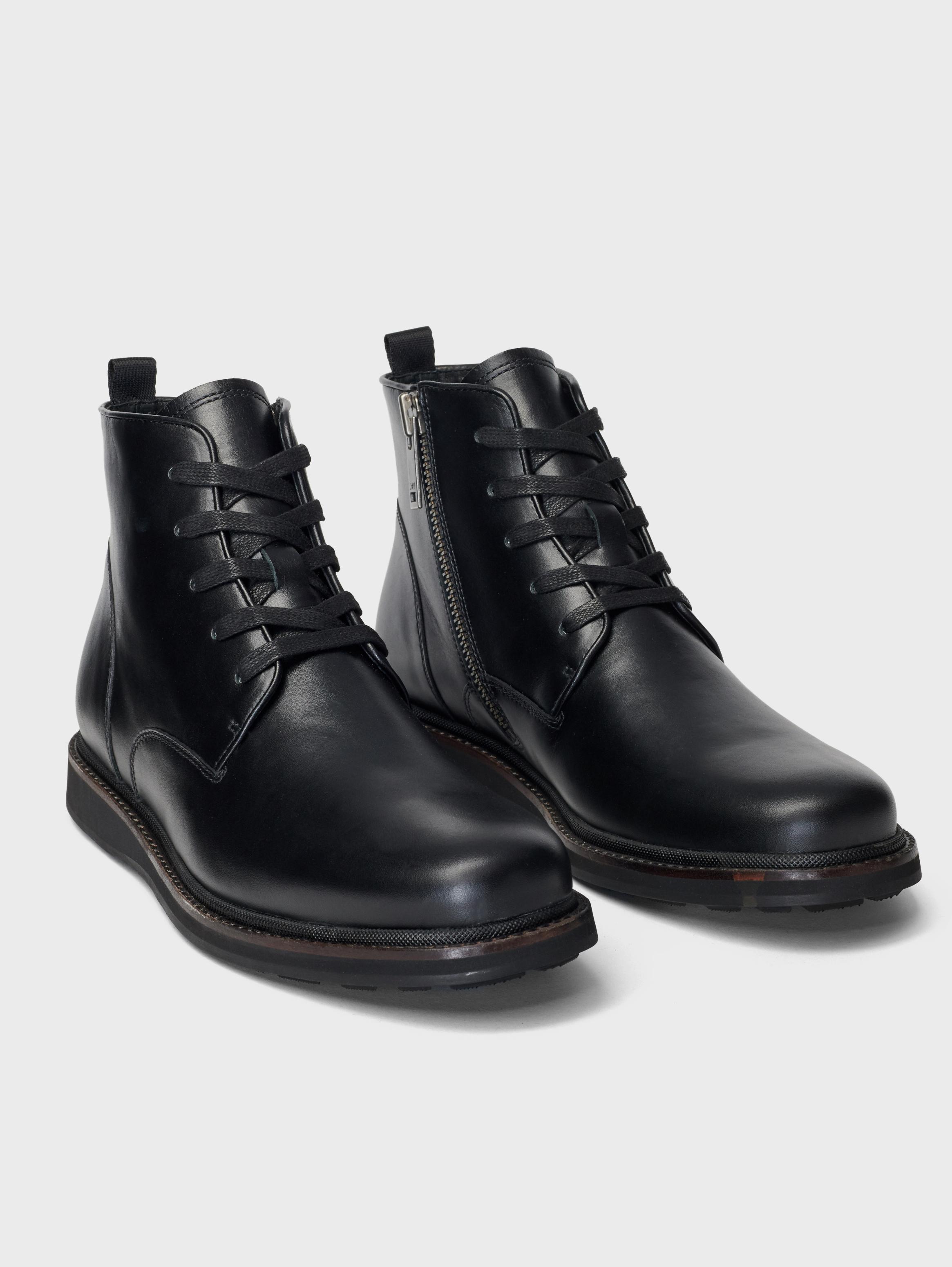 John Varvatos Brooklyn Lug Lace Boots Charcoal