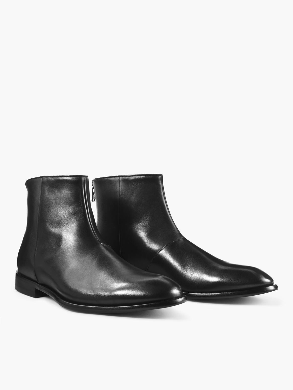 John Varvatos Nyc Back Zip Boot Black
