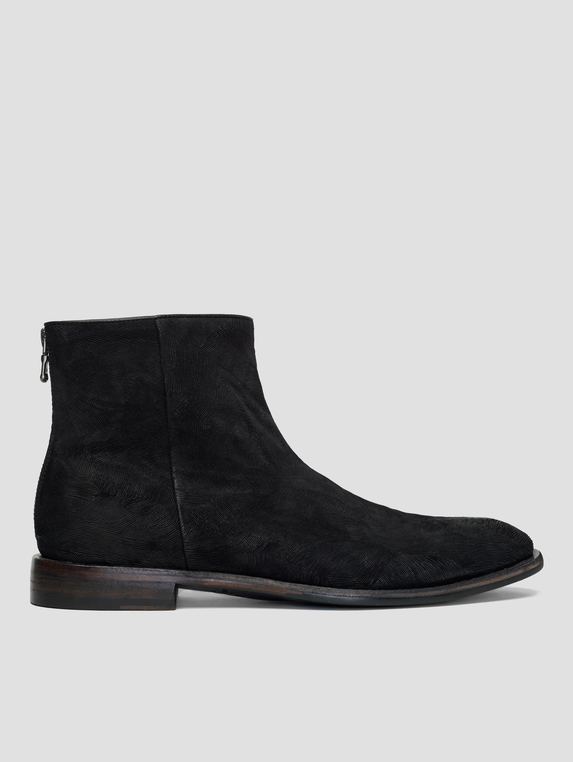 John Varvatos Nyc Back Zip Boots Black