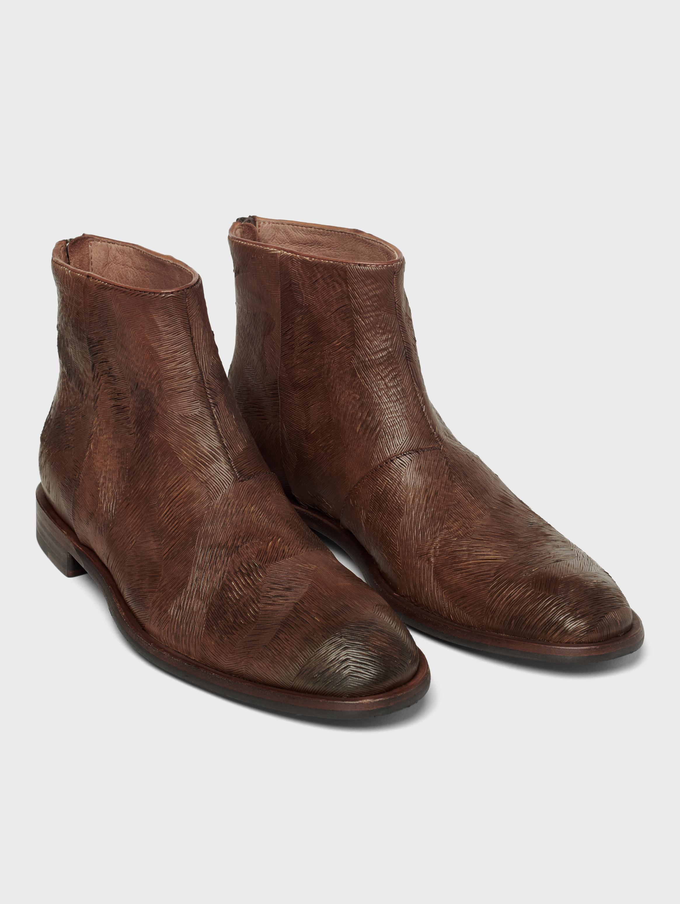 John Varvatos Nyc Back Zip Boots Mocha