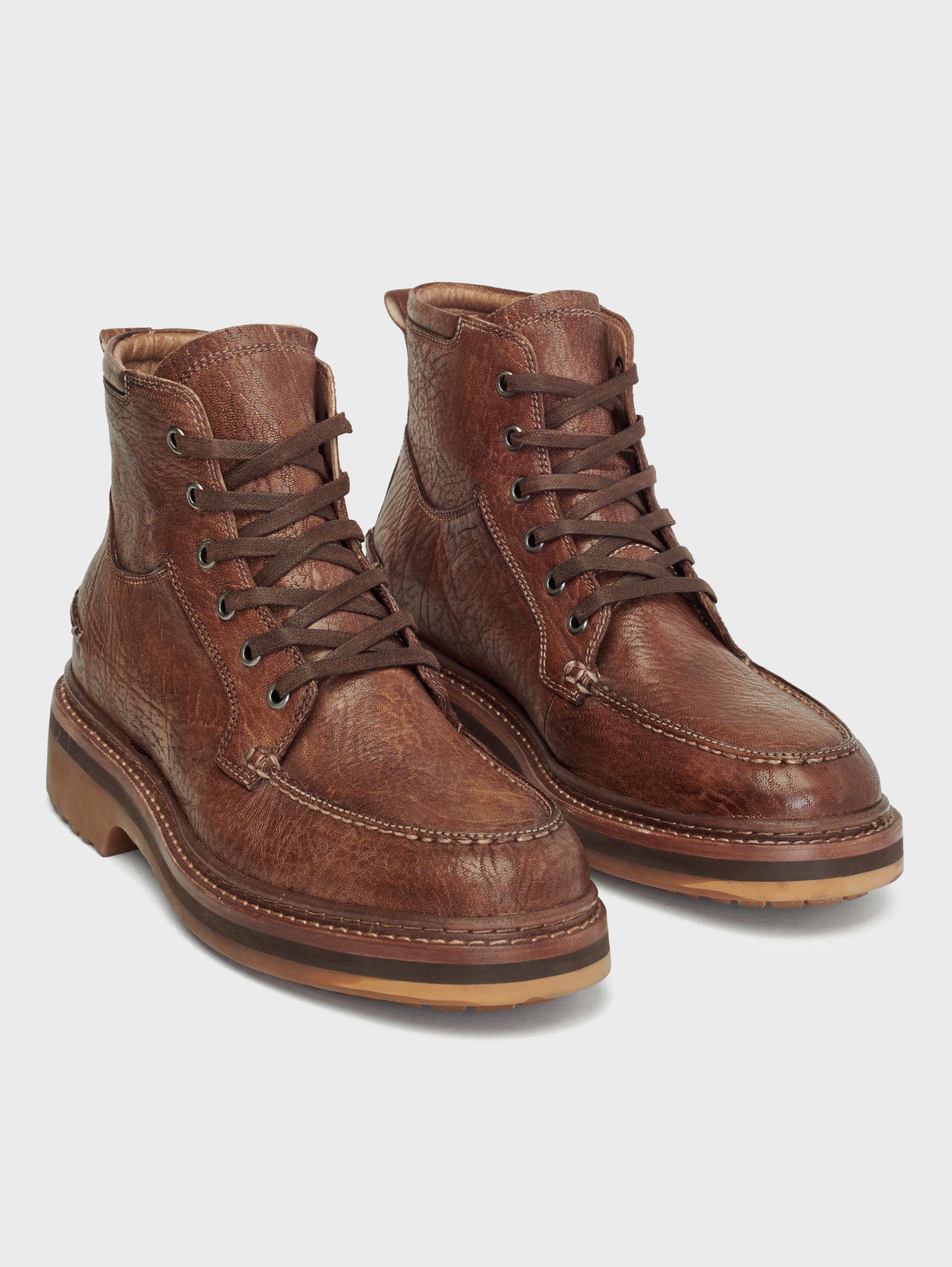 John Varvatos Cooper Apron Boots Mocha