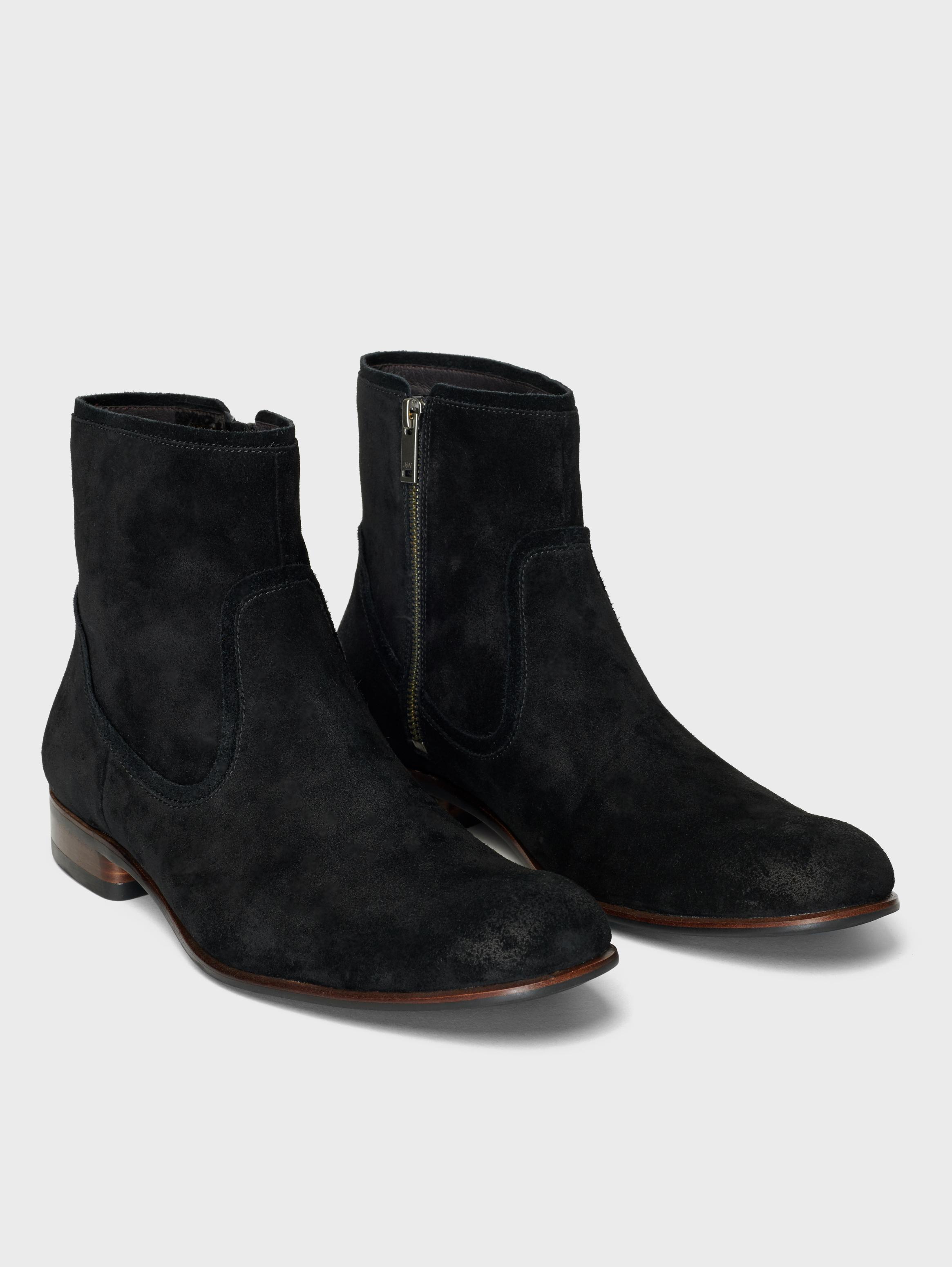 John Varvatos Seagher Zip Boots Coal