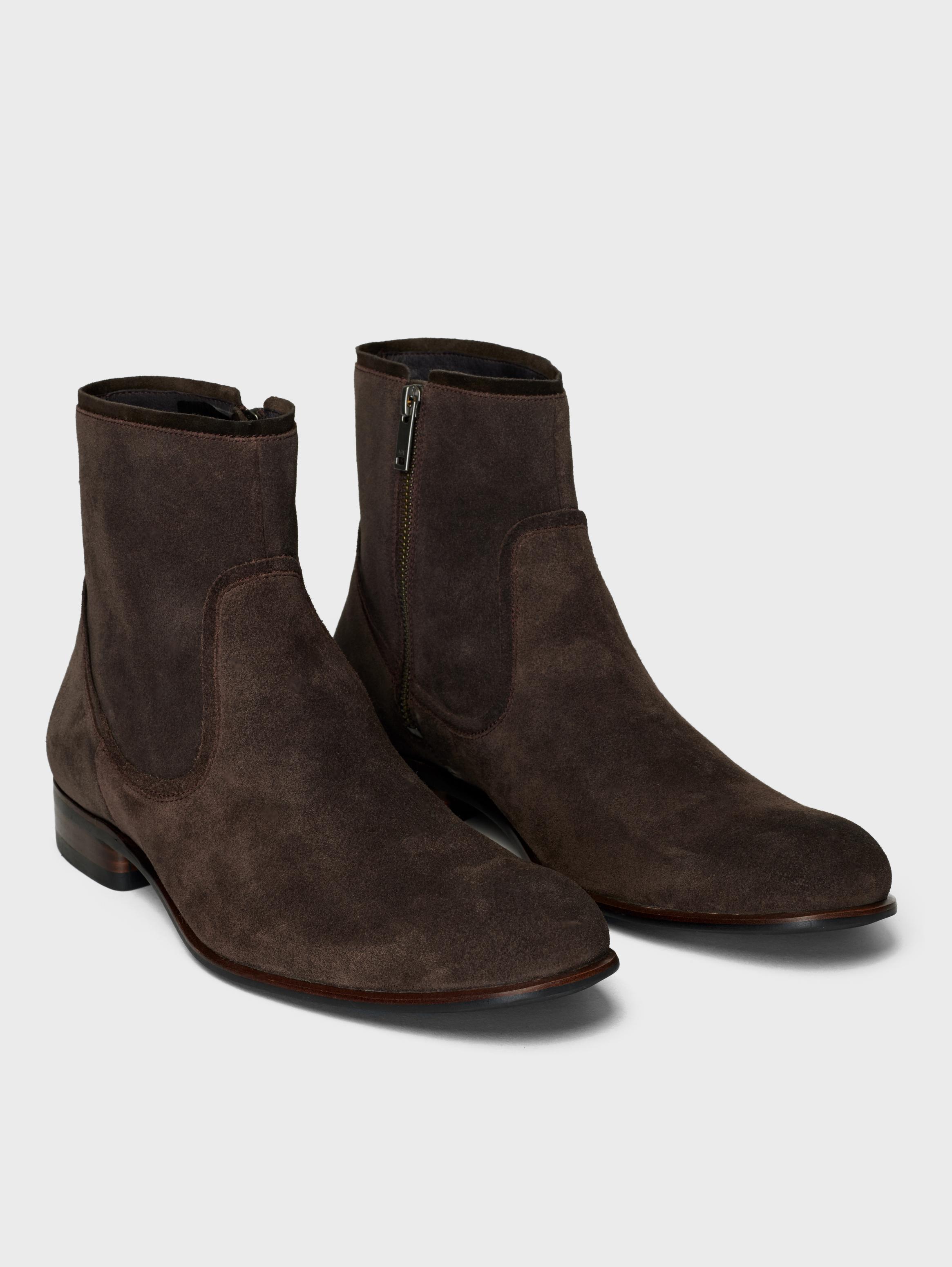 John Varvatos Seagher Zip Boots Chocolate