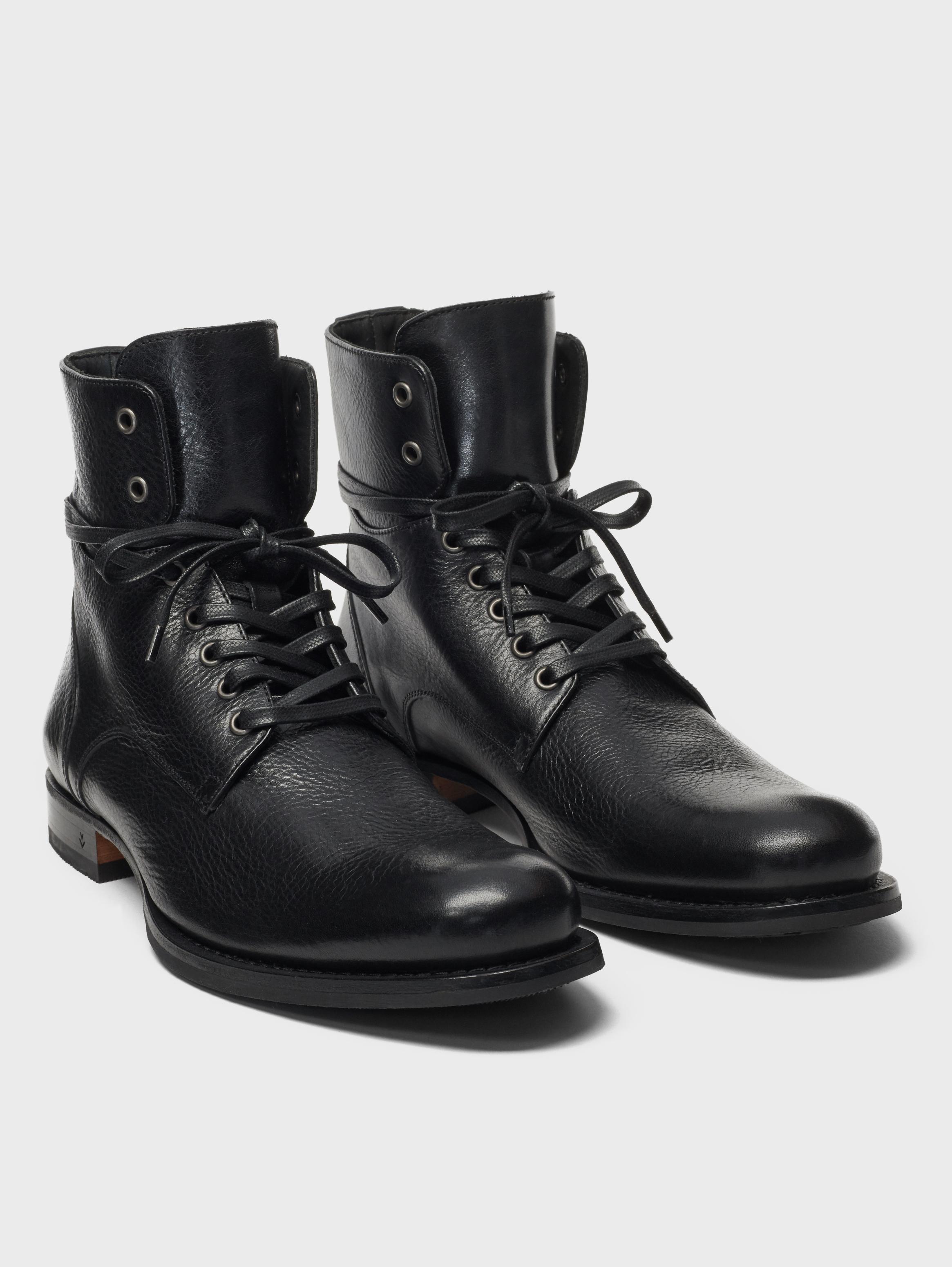 John Varvatos 606  Artisan Convertible Boots Black