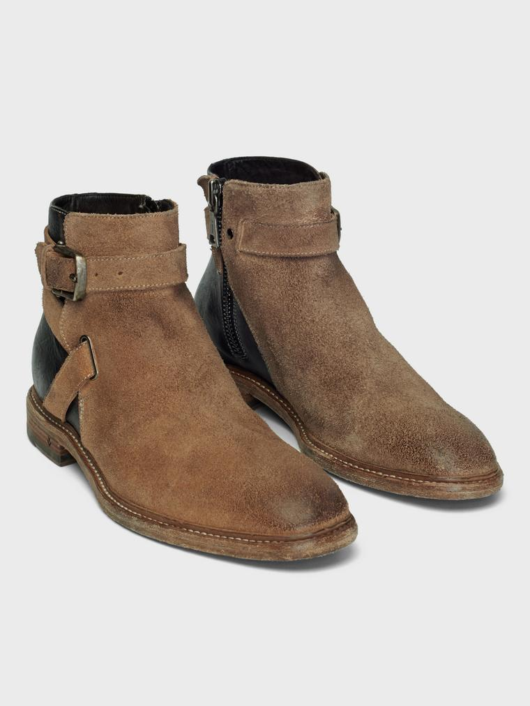 John Varvatos Irving Welted Jodphur Boot Walnut
