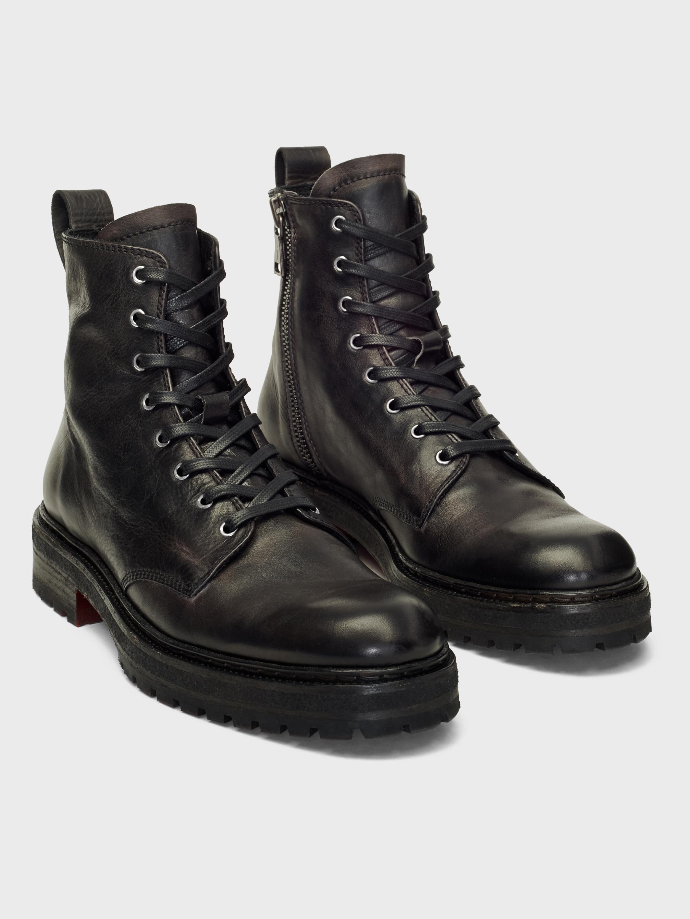John Varvatos Union Combat Boots Black