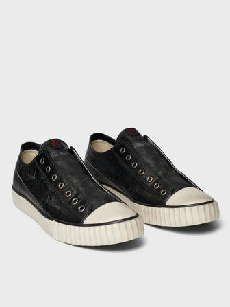 COATED LINEN LACELEESS SLIP ON