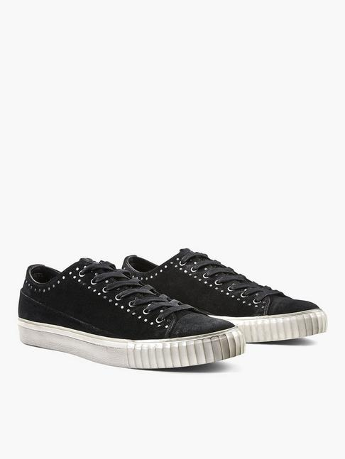 Suede Studded Low-Top