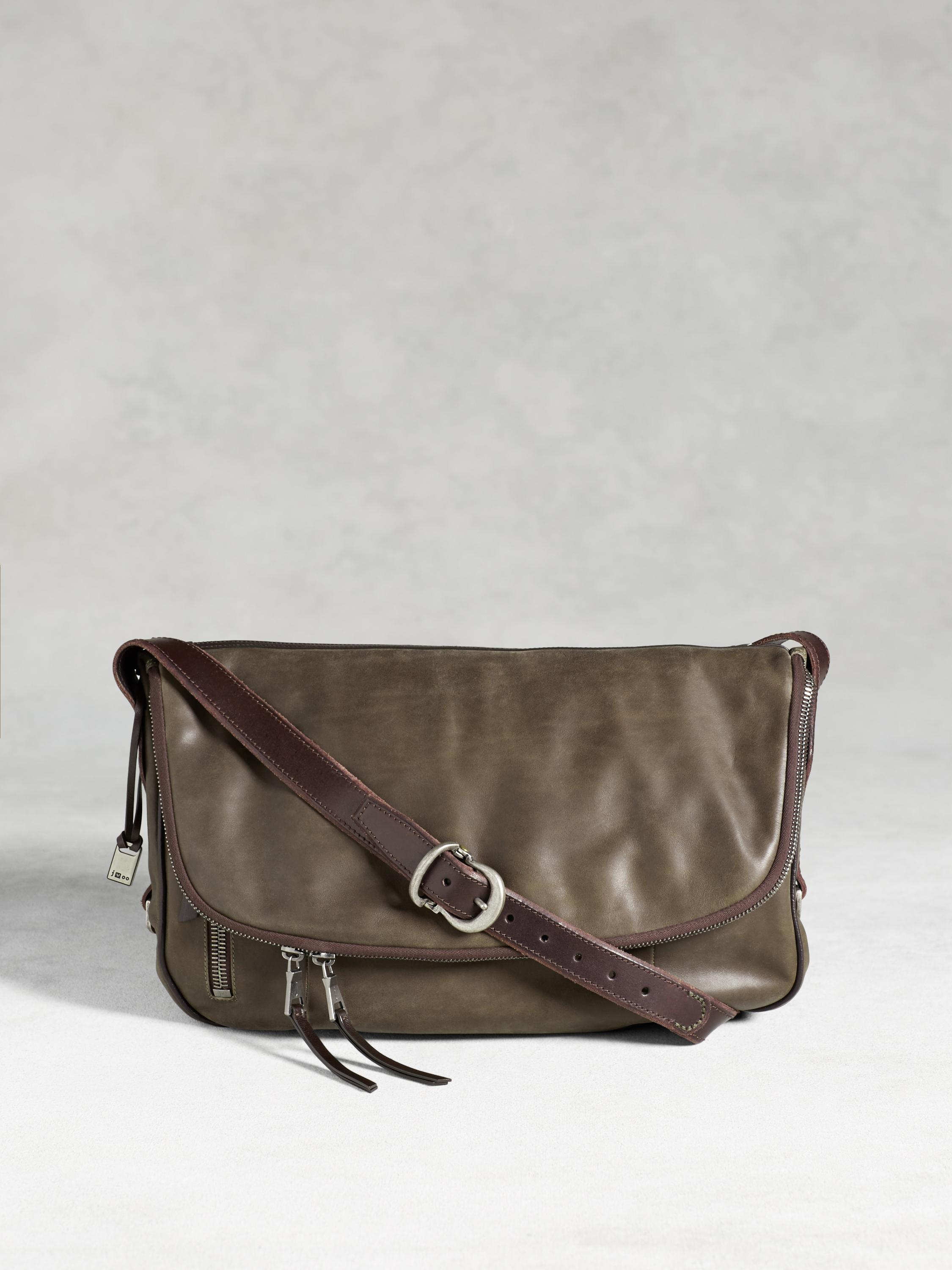 Bleeker Fold-Over Messenger Bag