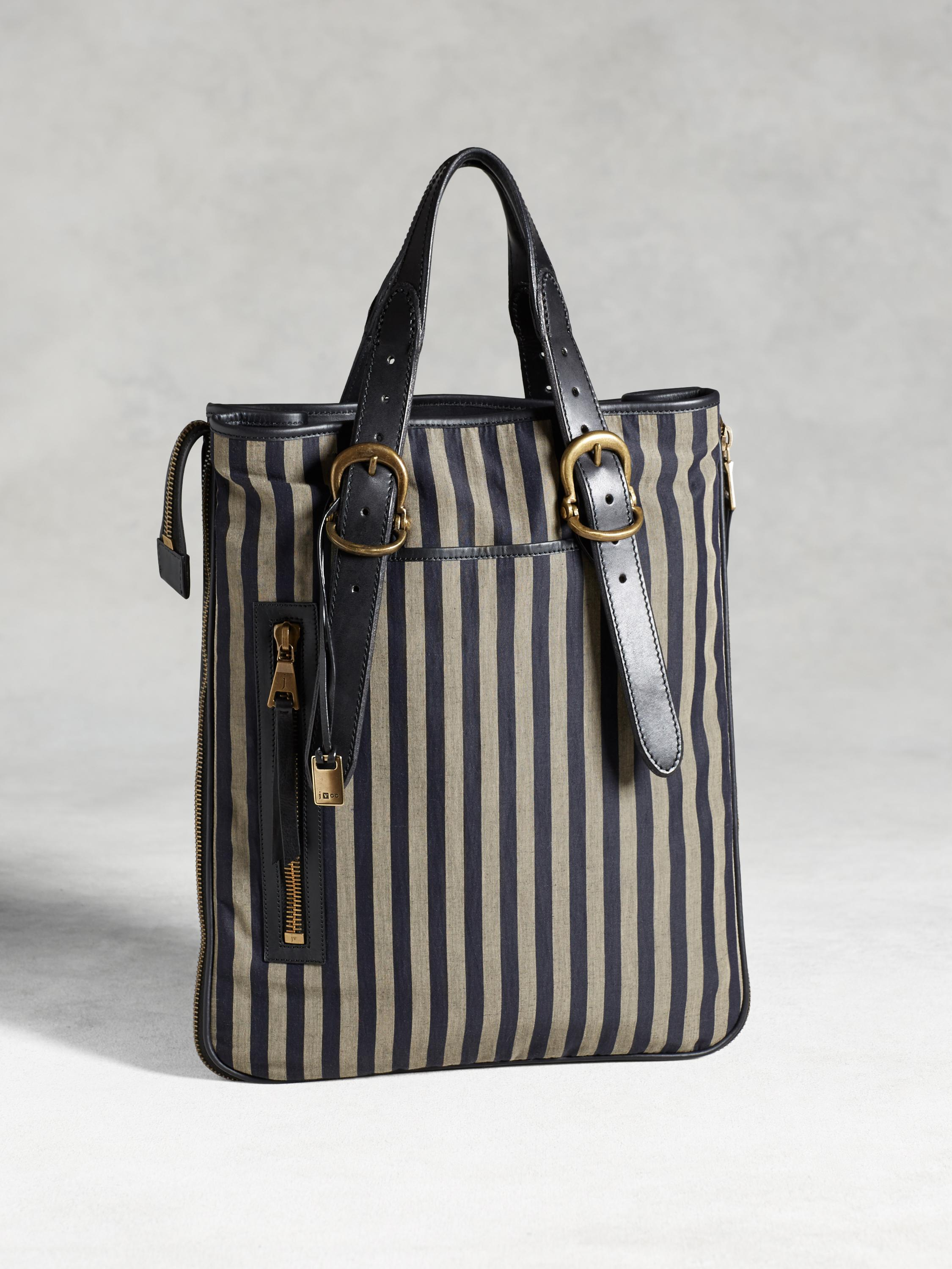 Bleeker Expandable Zip Shopper Stripe