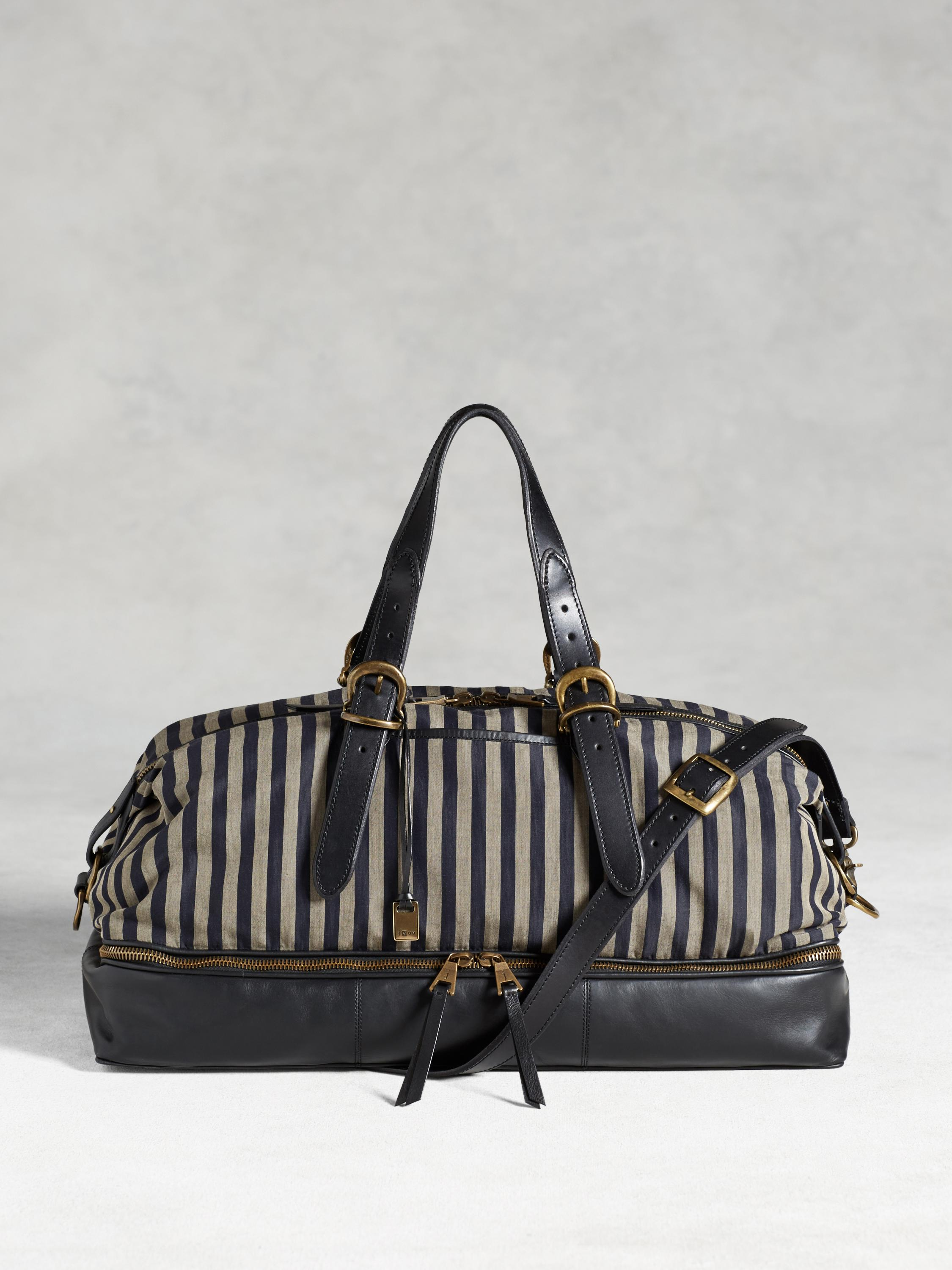 BLEEKER ZIP COMPARTMENT DUFFLE STRIPE
