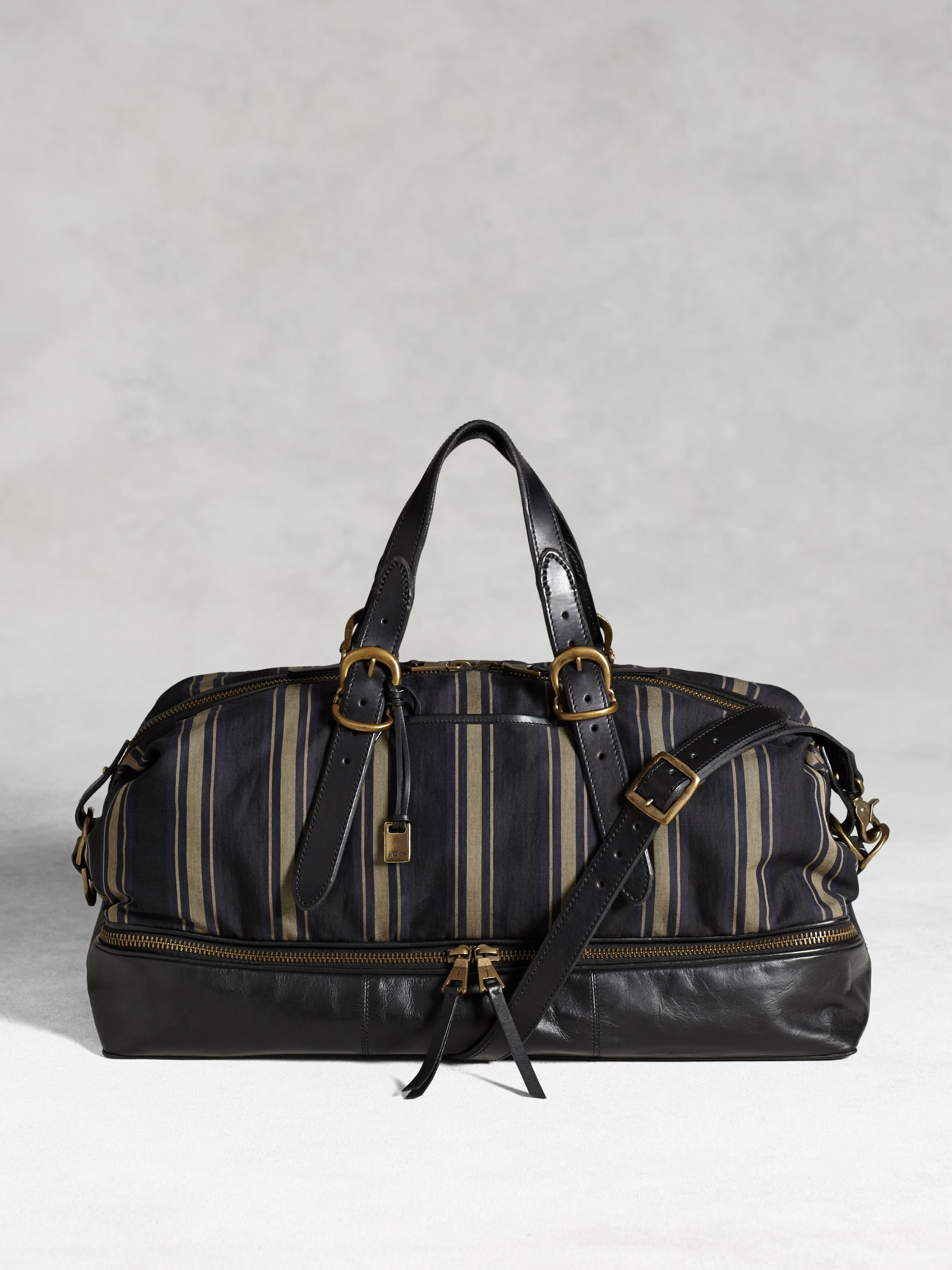 Bleeker Bold Stripe Zip Compartment Duffle