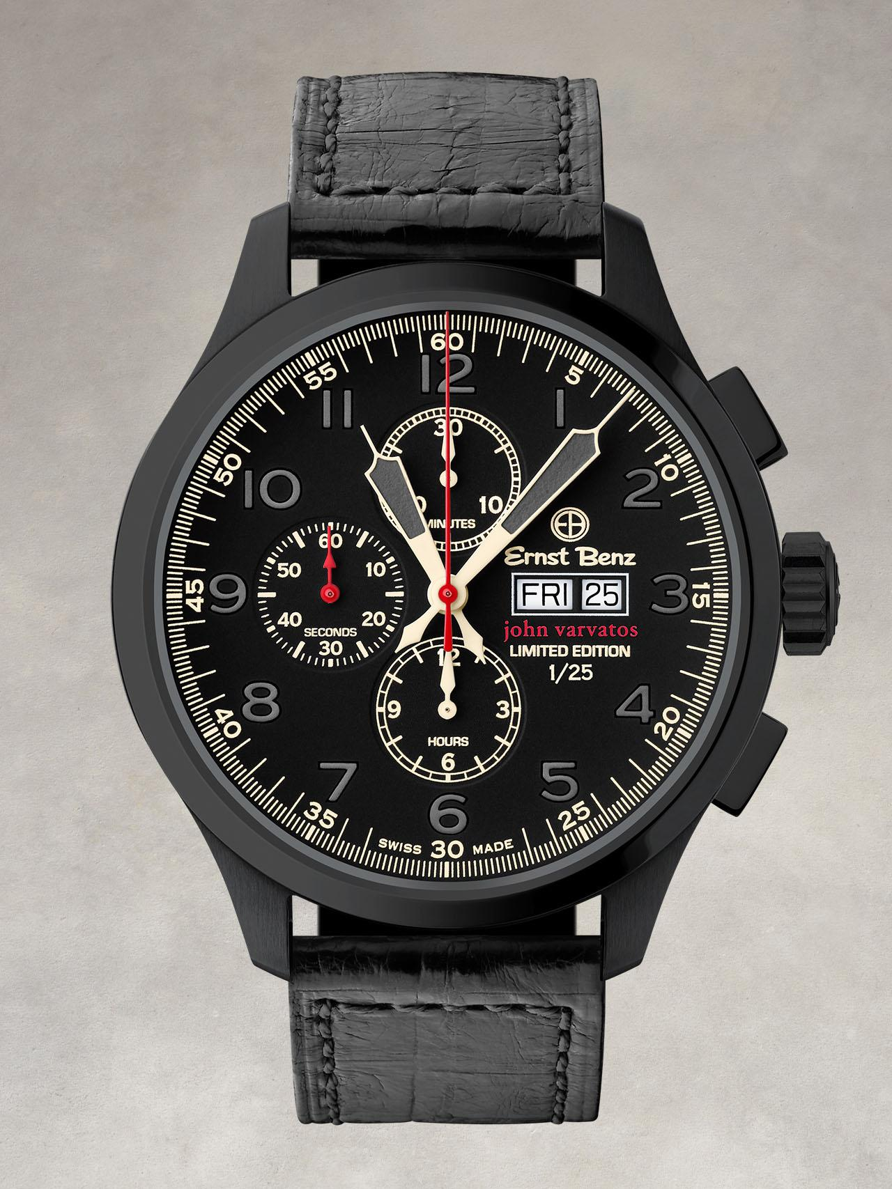 John Varvatos DLC Chronoscope Watch
