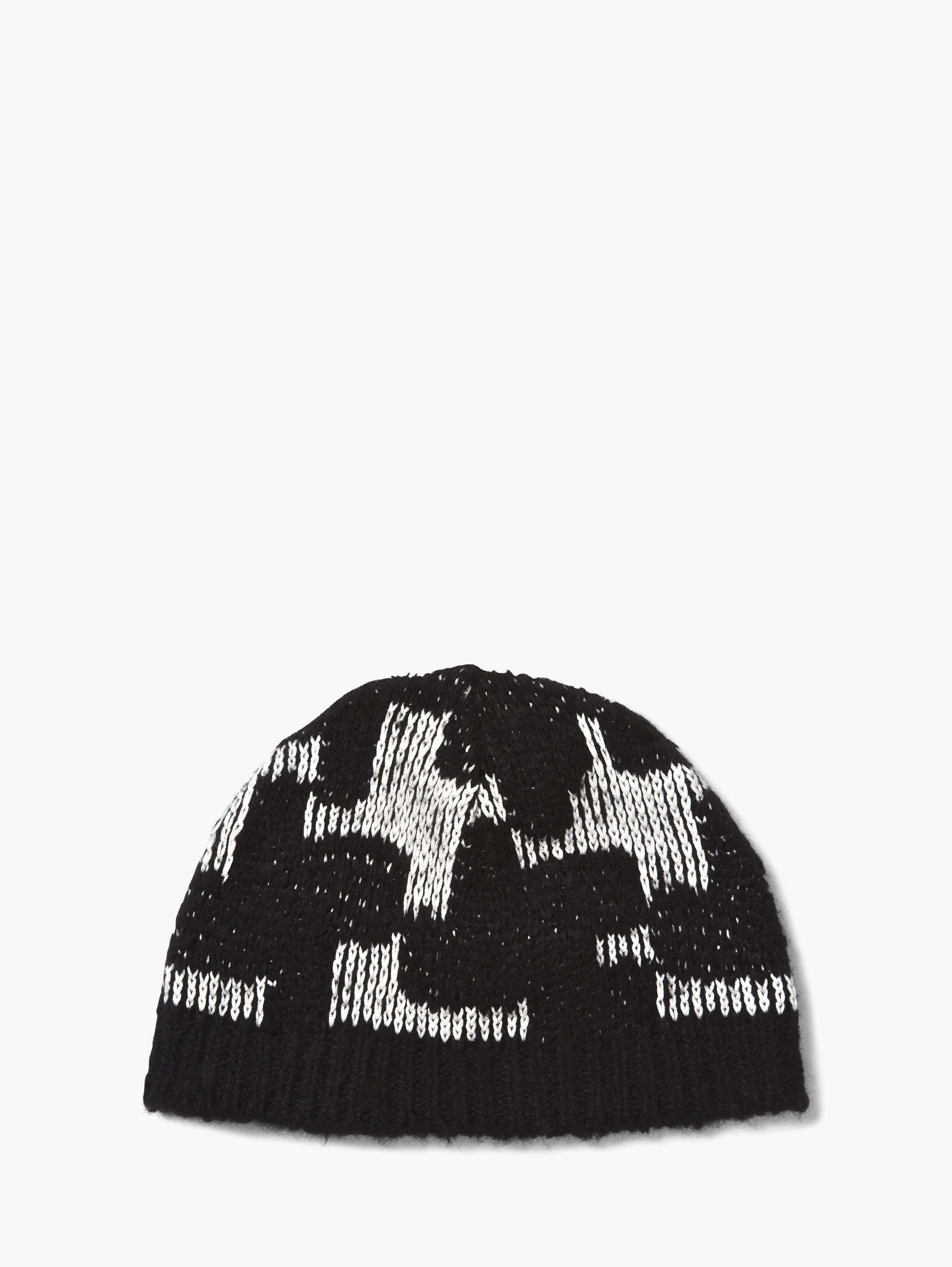 Houndstooth Knit Hat