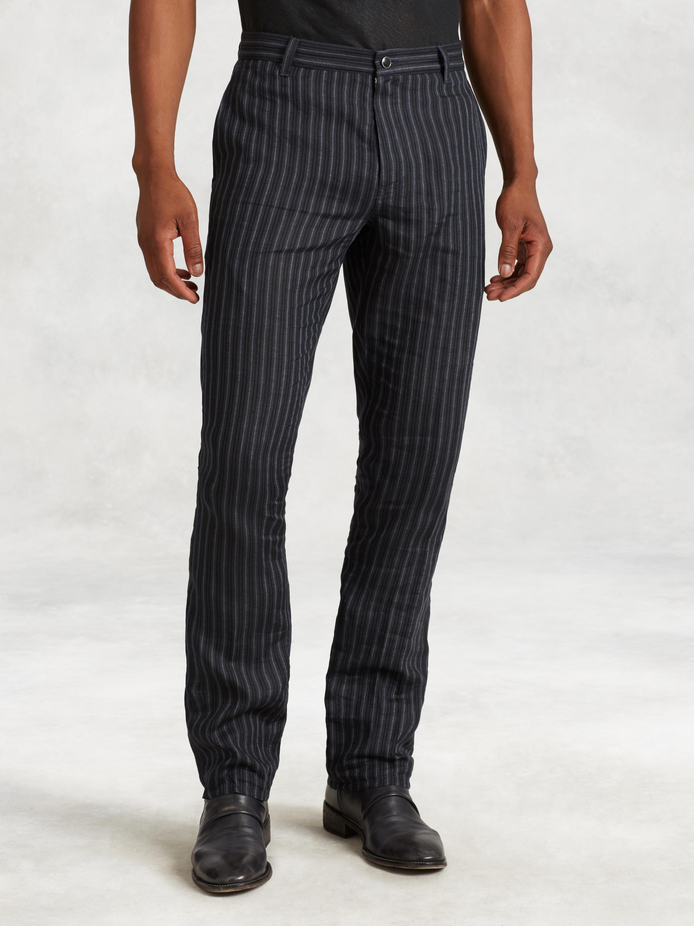 Linen Stripe Motor City Jean