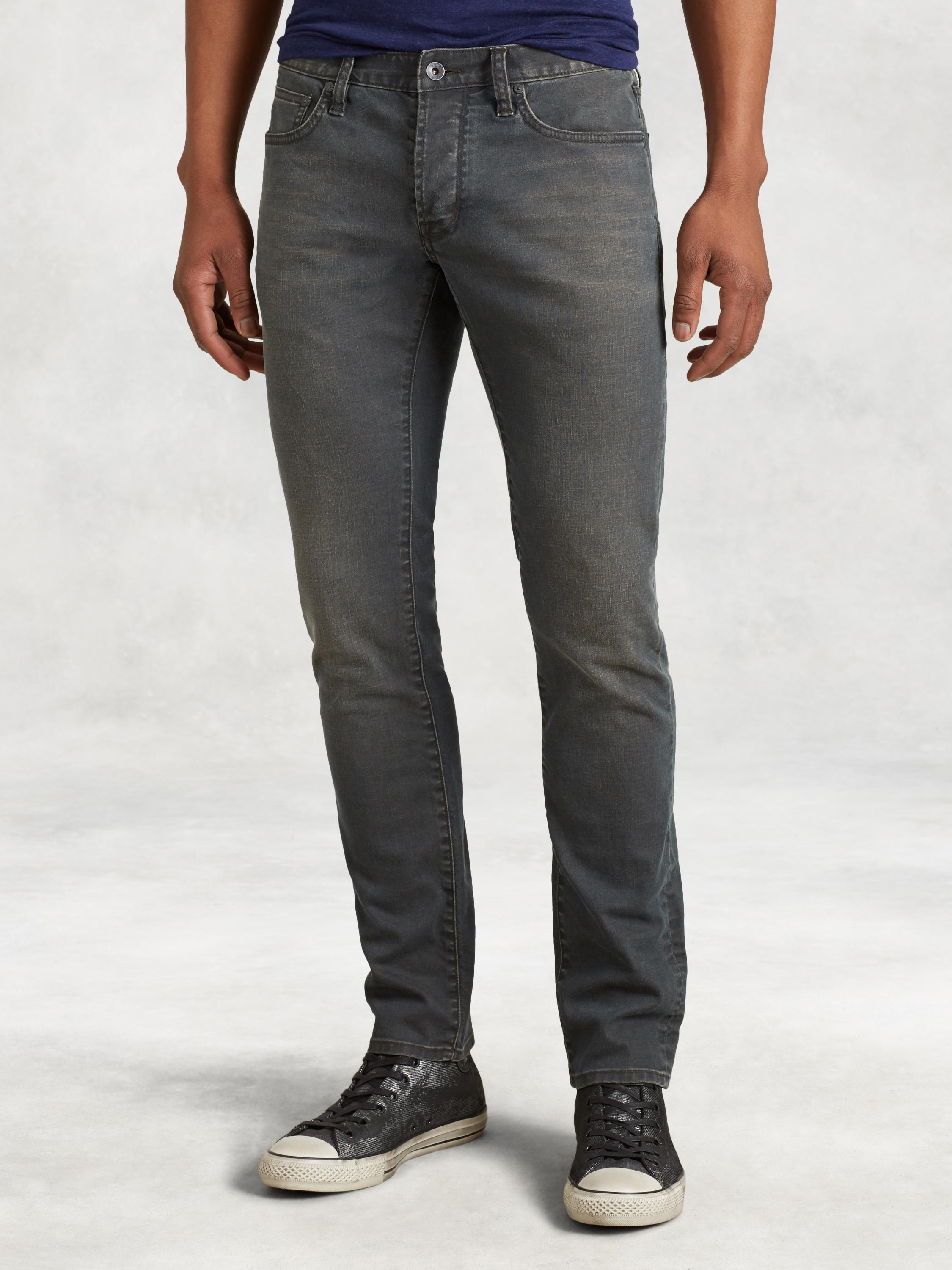 Wight Hand Distressed Jean