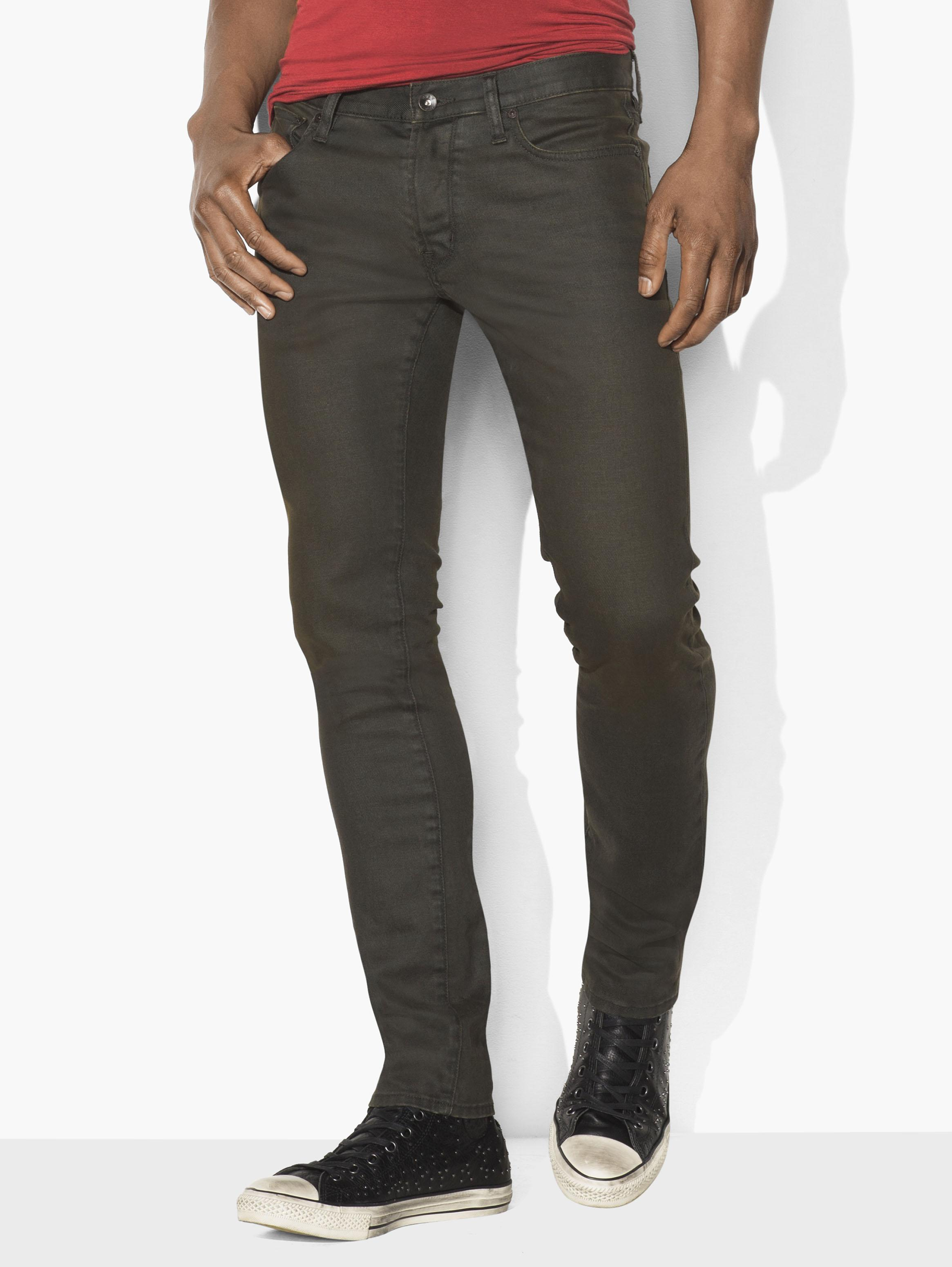 Wight Coated Stretch Jean