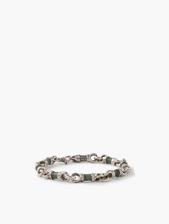 Linked Emerald Beads Bracelet
