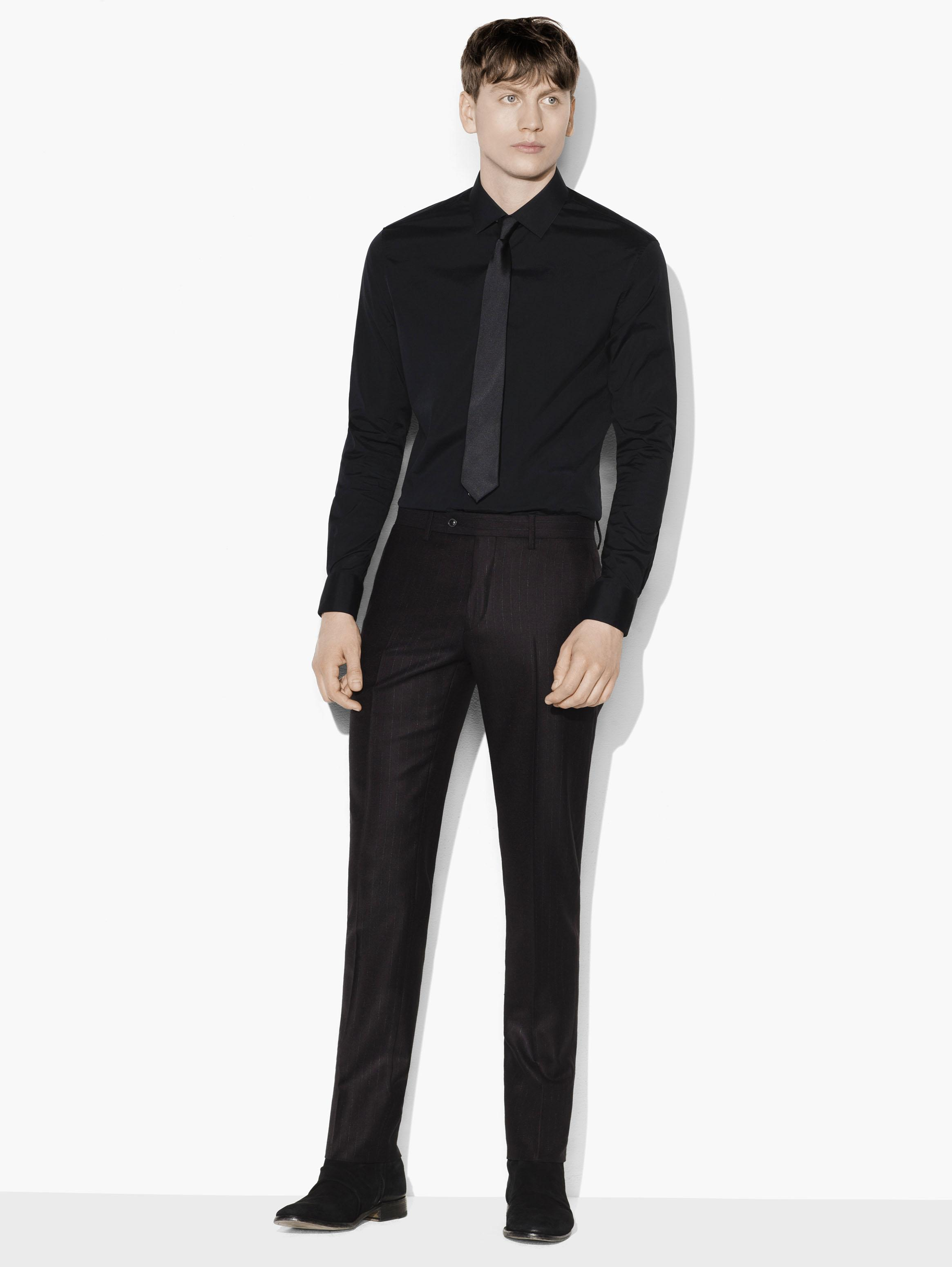 Austin Charcoal Pinstripe Dress Pant