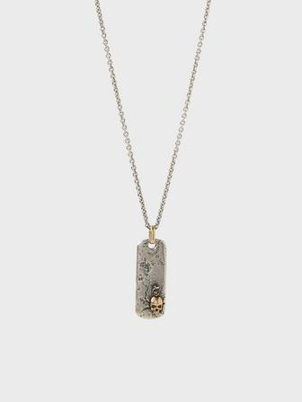 Dog Tag Skull Necklace
